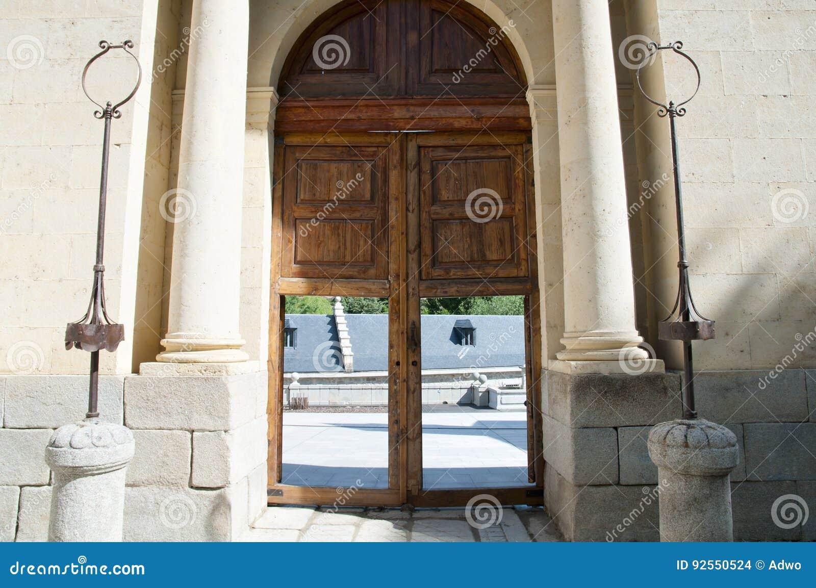 Casade la Moneda reale Front Door - Segovia - la Spagna