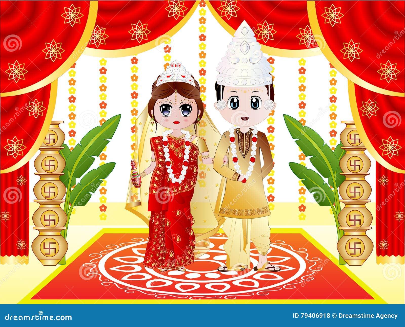 Casamento bengali indiano
