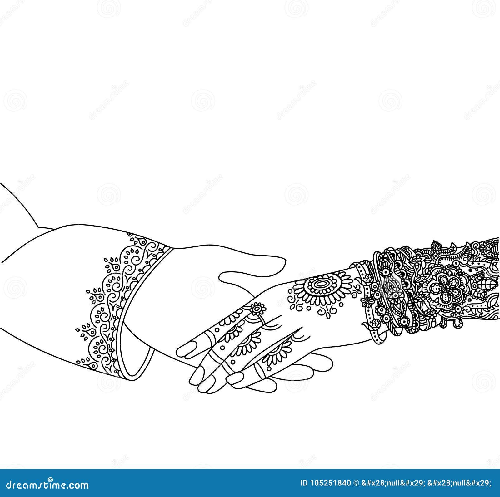 Casandose La Tarjeta India De La Invitación Aislada En Blanco ...