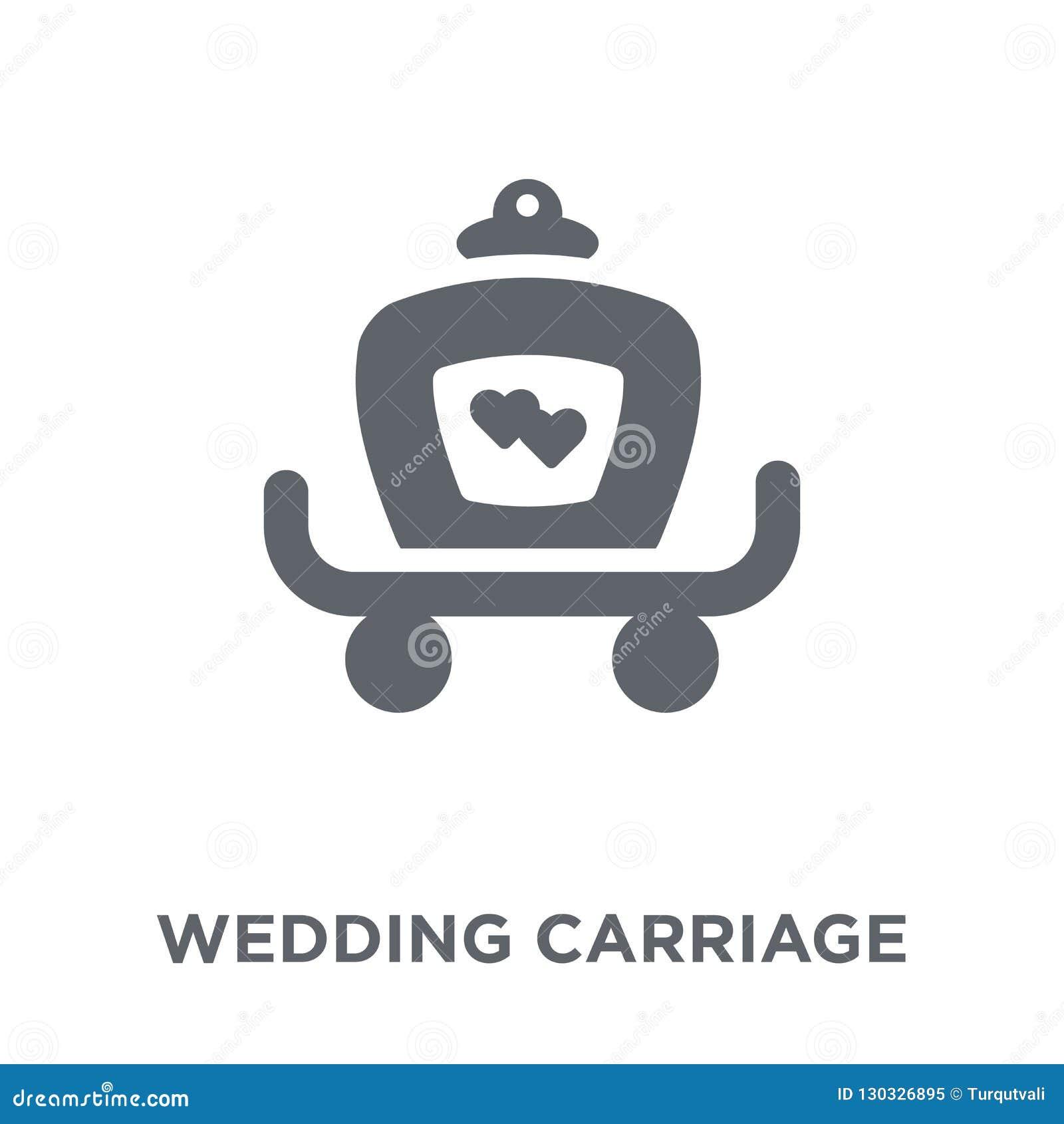 Casarse el icono del carro de la colección de la boda y del amor