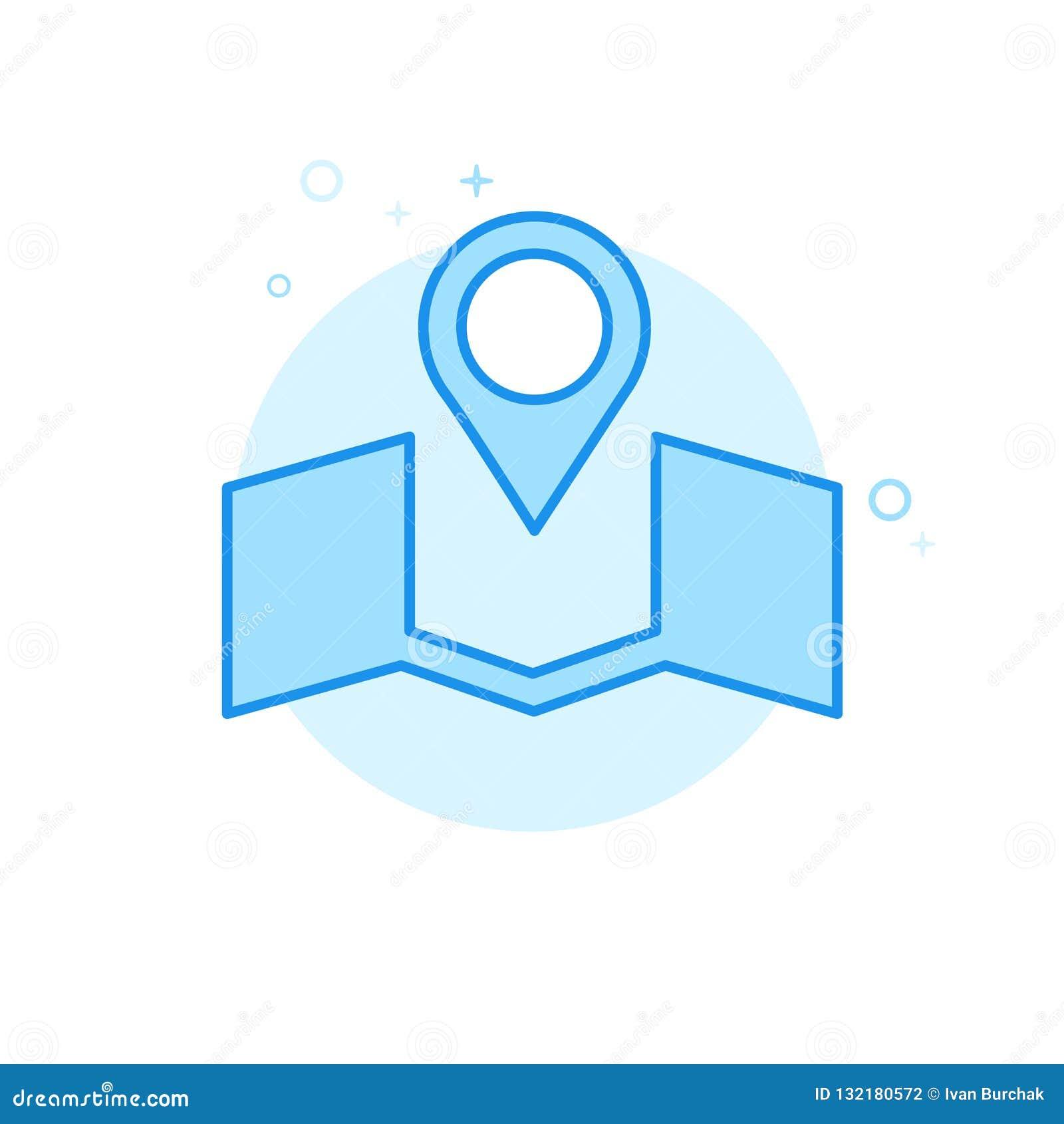Casarse el icono plano del vector del lugar, símbolo, pictograma, muestra Diseño monocromático azul claro Movimiento Editable