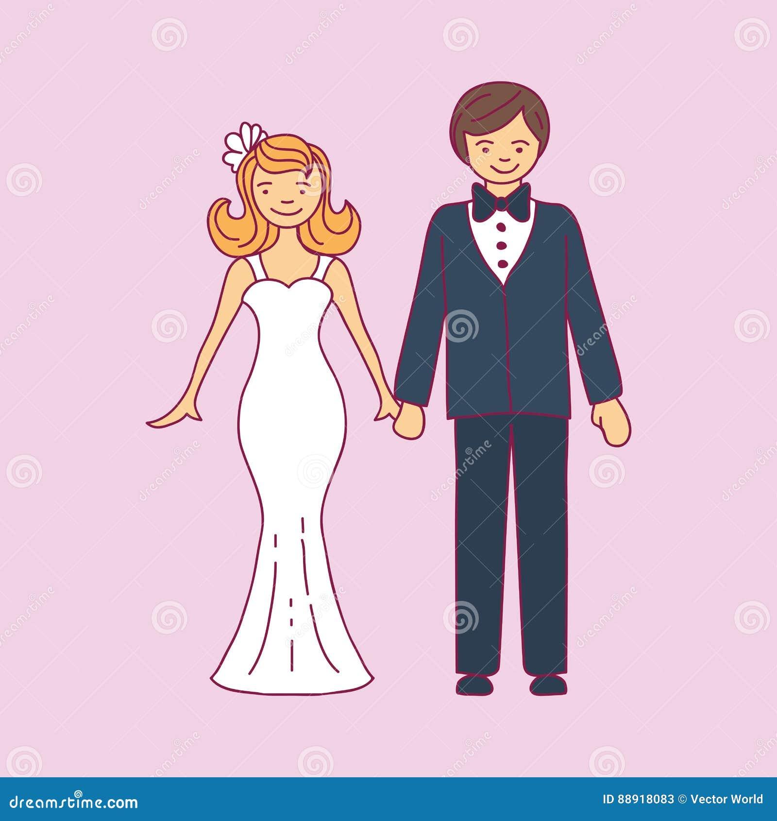 Casarse Pares Se Está Abrazando Muchacha Modelo Hermosa Del Vector ...