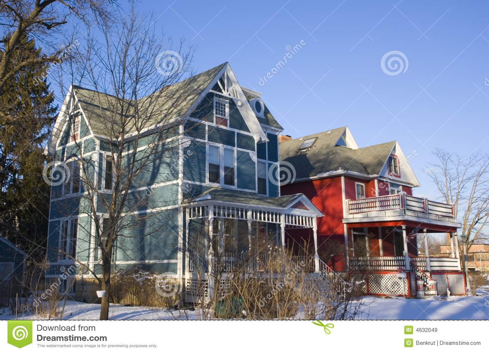 Casas americanas coloridas