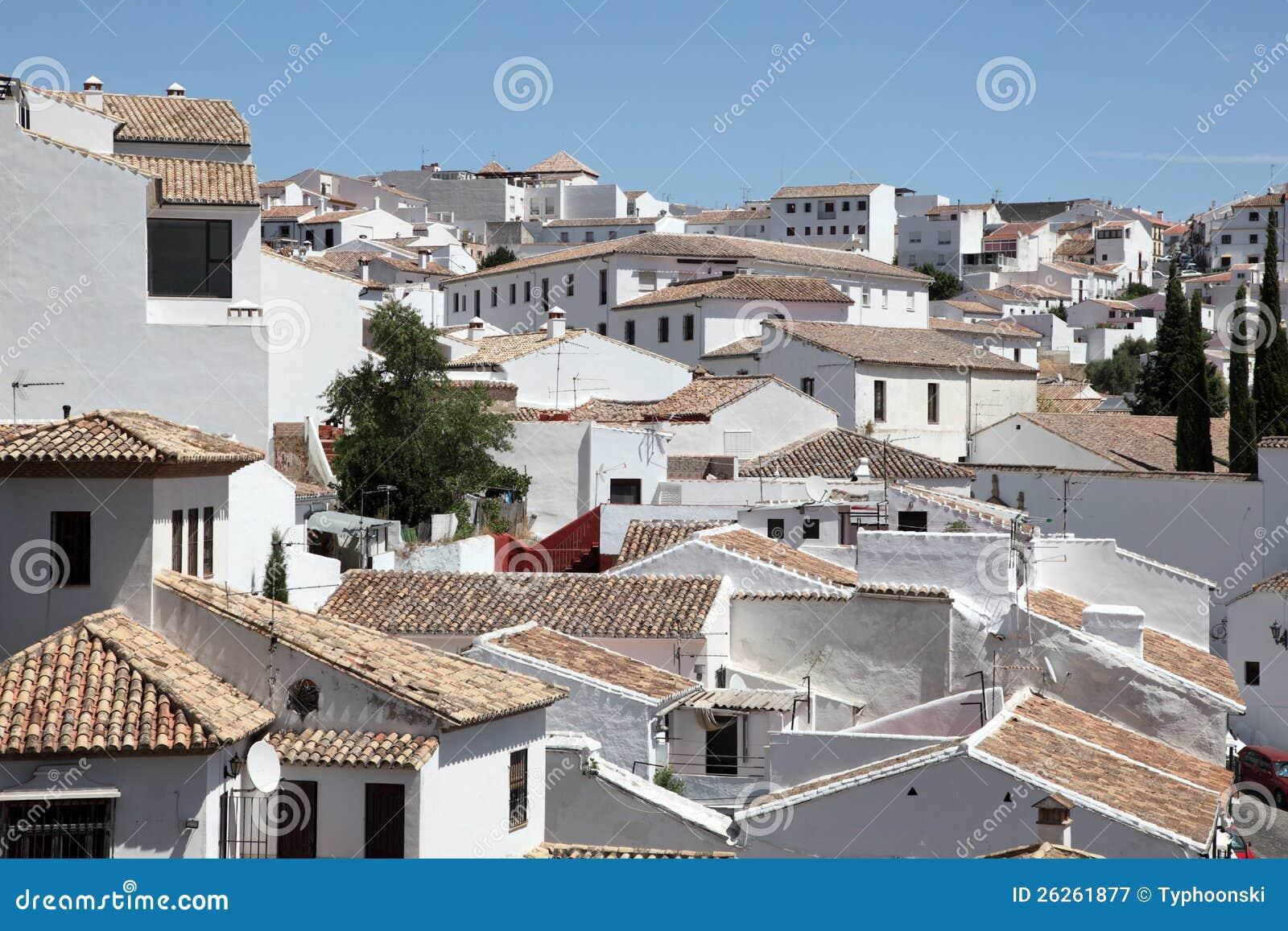 Casas blancas en ronda espa a fotograf a de archivo libre - Casas sostenibles espana ...