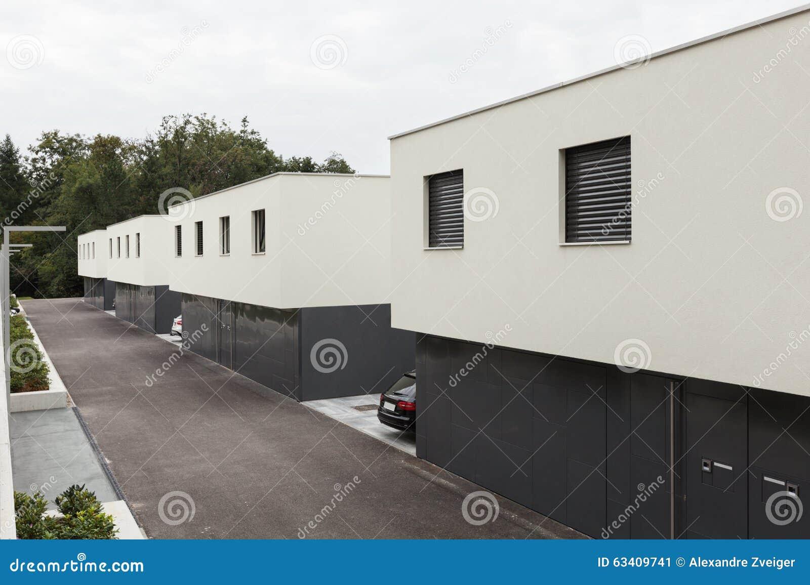 Casas blancas modernas diseo exteriores moderno piscinas for Casas blancas modernas