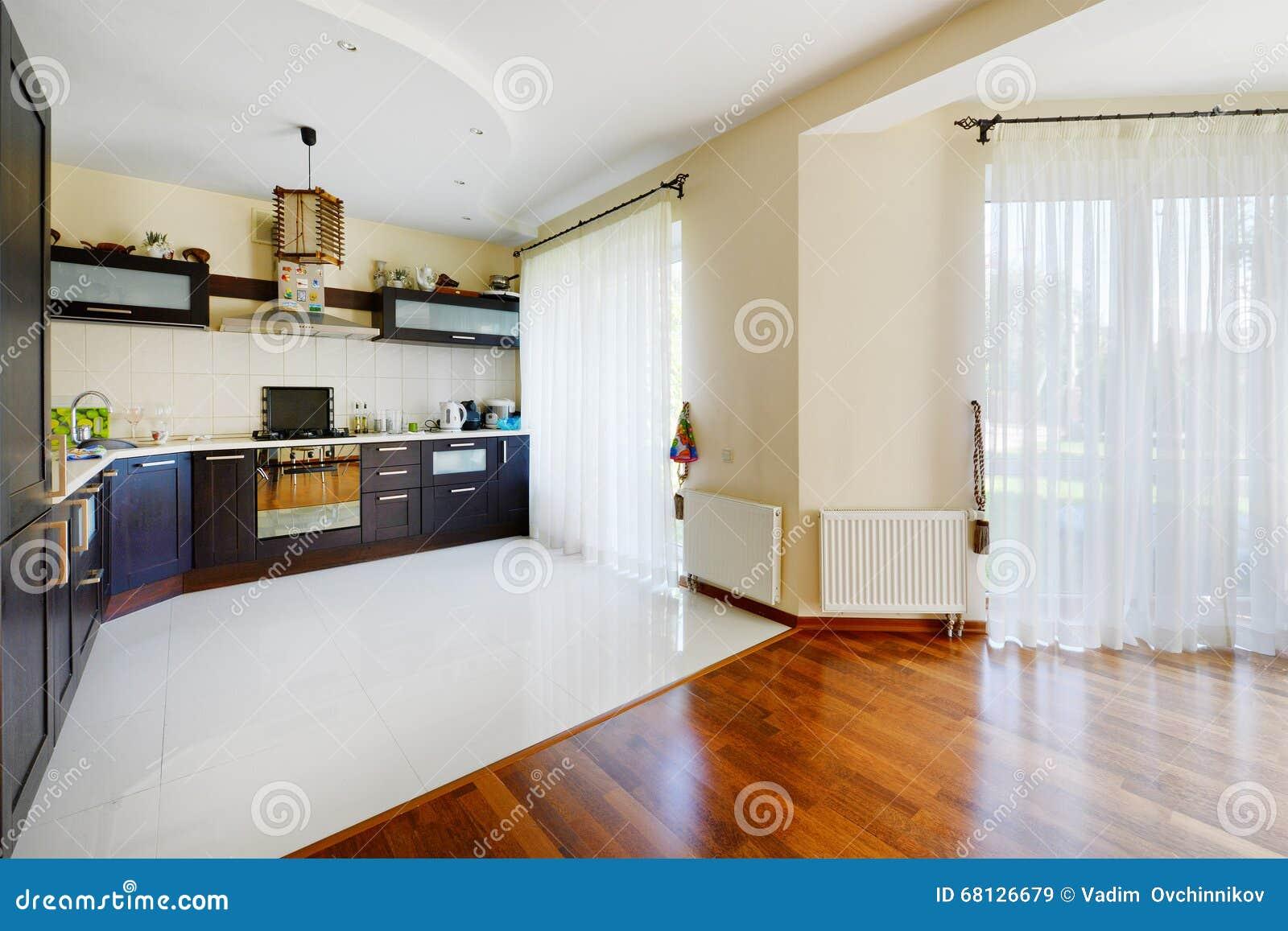 Bonitas Apartamentos Casa Luxuosa Projeto Projeto Da Cozinha Sala  #7D3C12 1300 957
