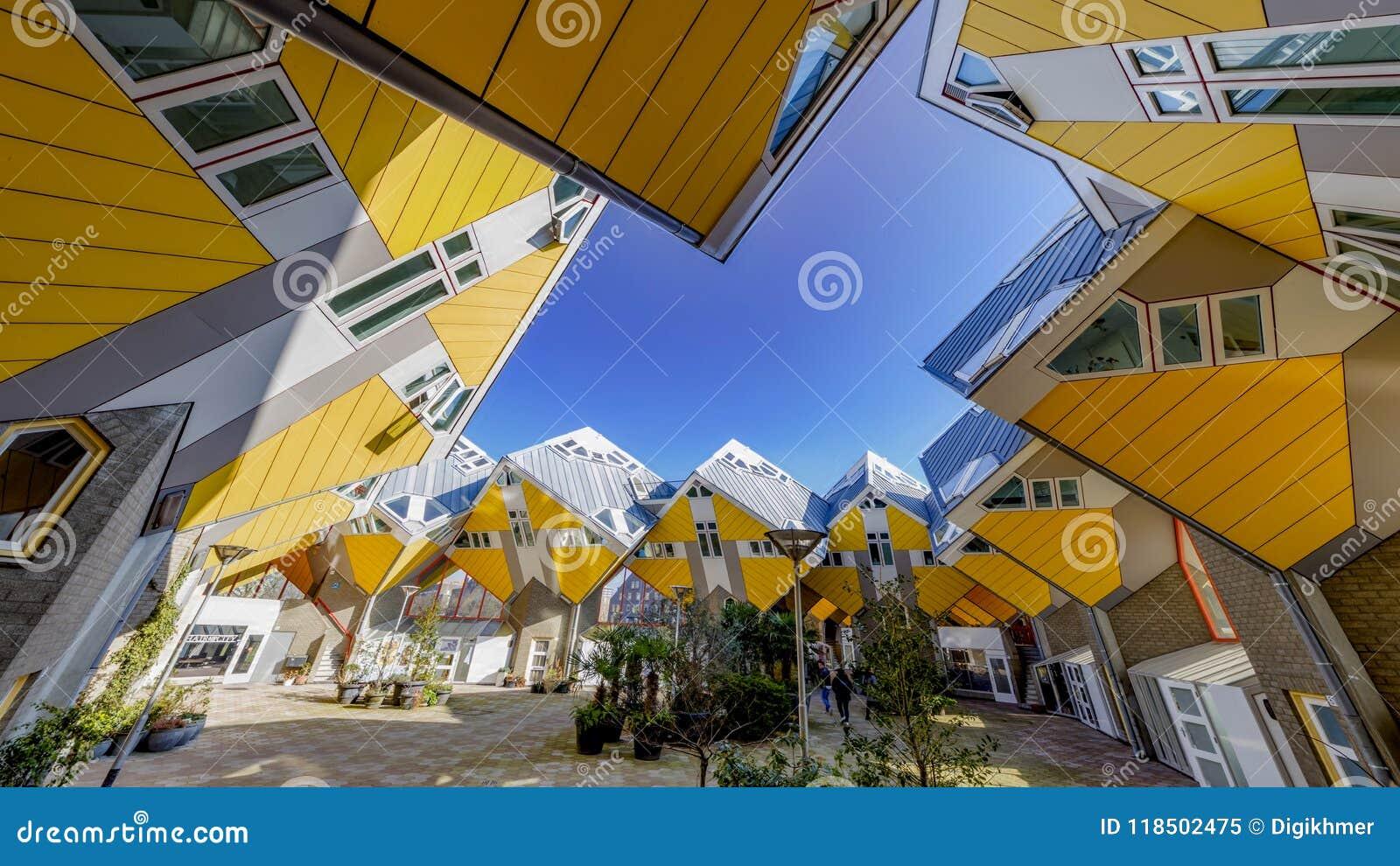 Casas cúbicas em Rotterdam