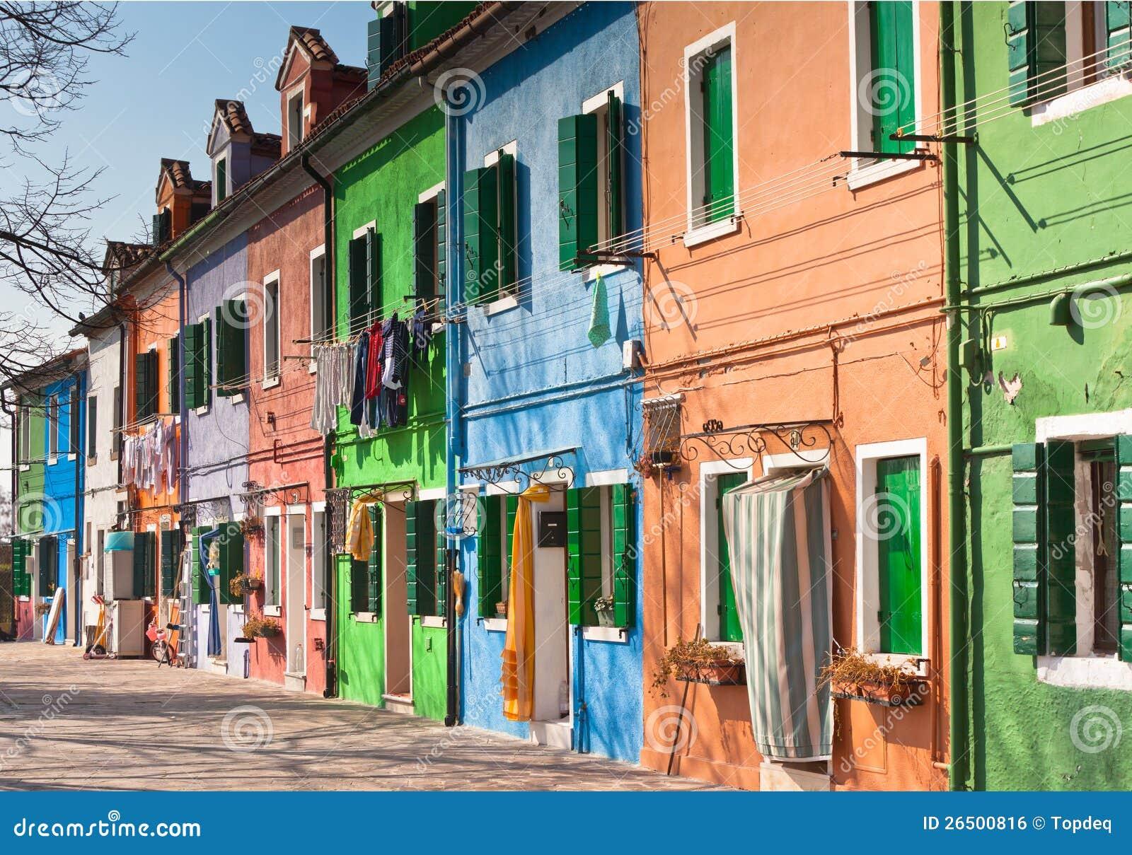 Casas coloridas de Burano