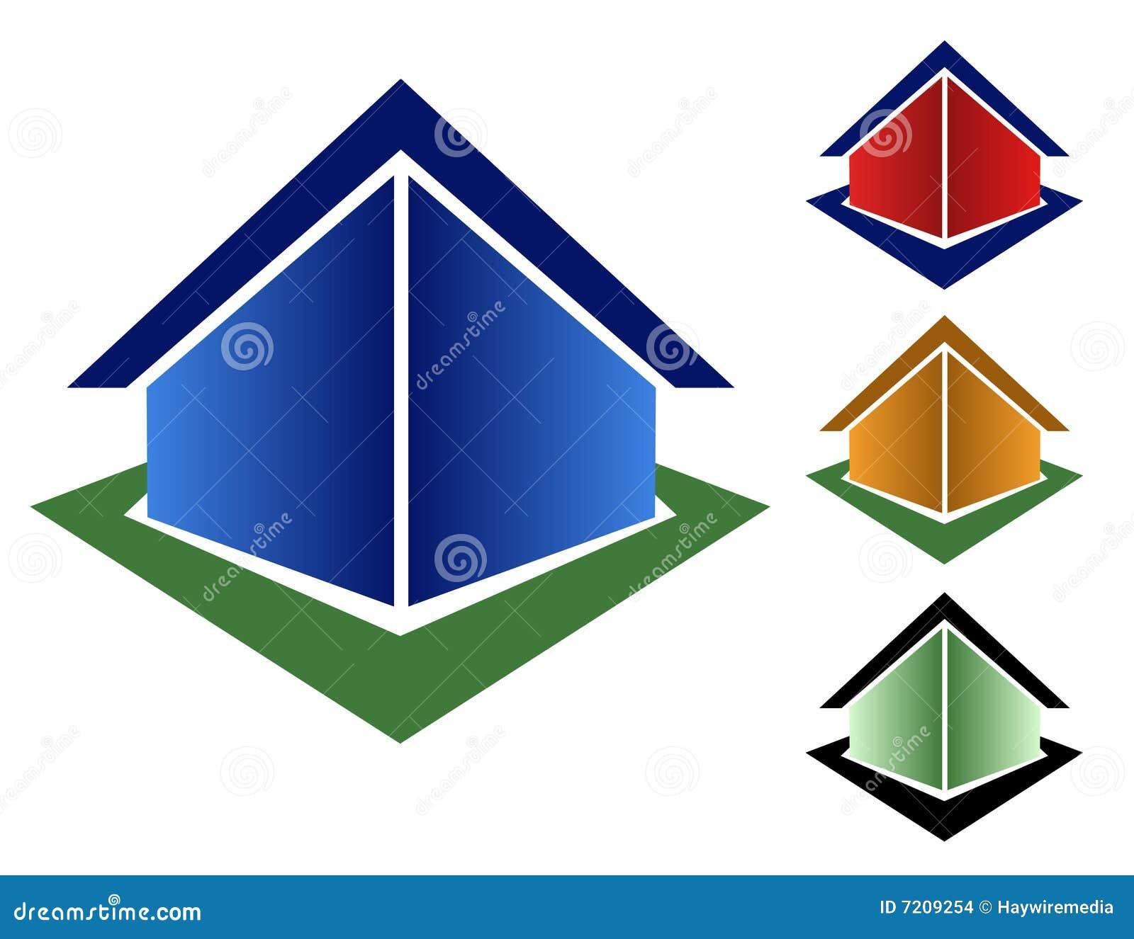 Casas coloridas do triângulo