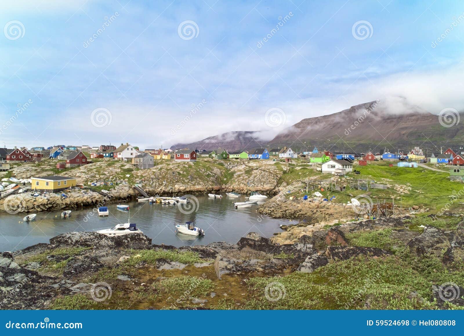 Casas coloridas Qeqertarsuaq, Gronelândia