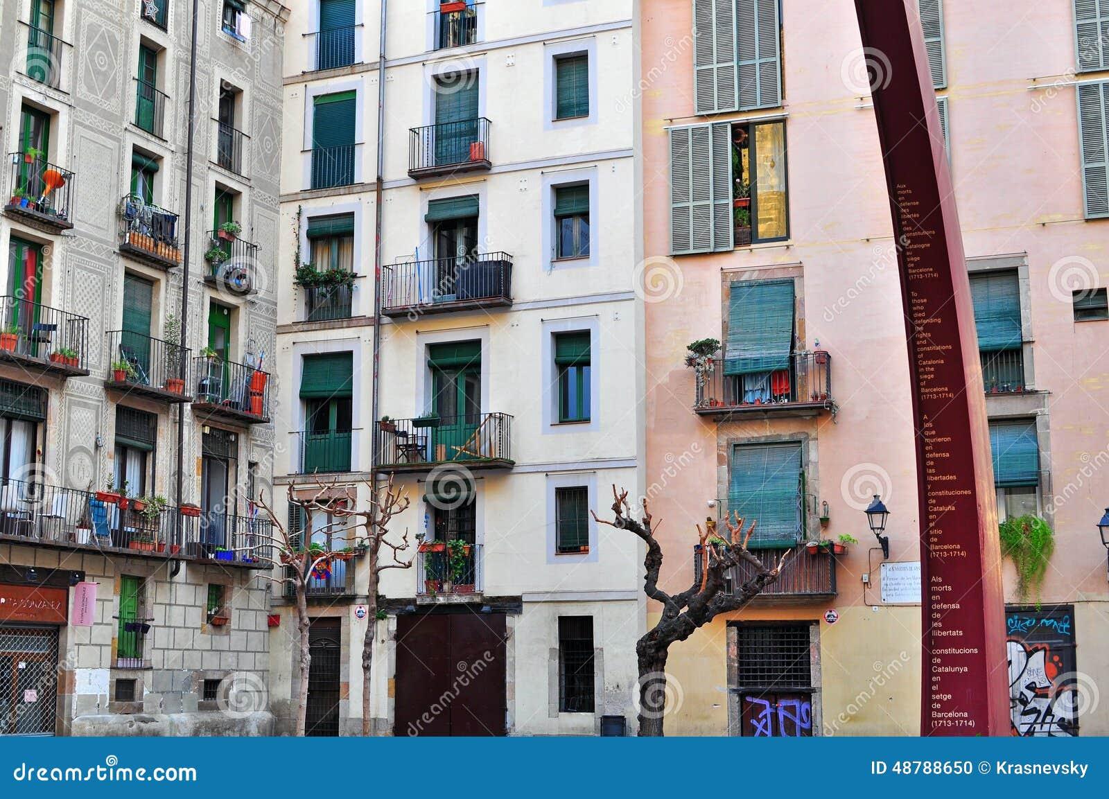 Casas De Barcelona Cidade Velha Imagem Editorial Imagem De Barcelona Casas 48788650