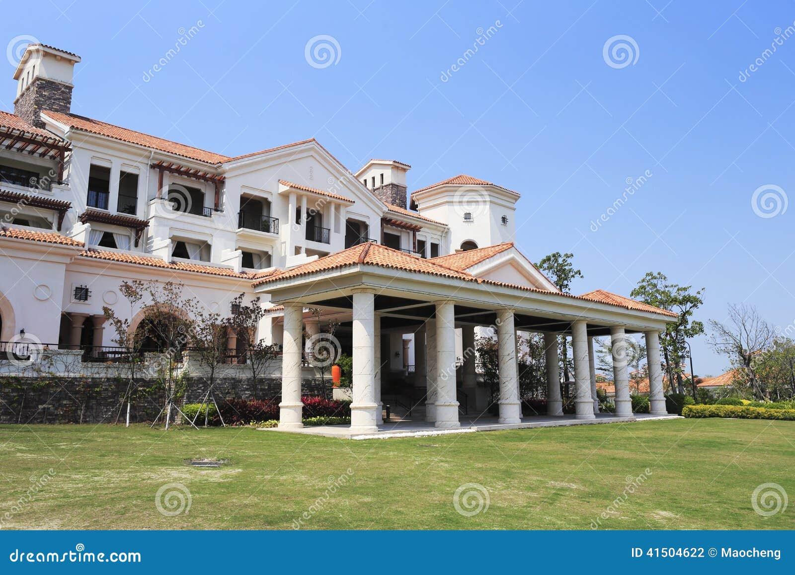 Casas de campo grandes do europeu estilo foto de stock - Estilos de casas ...