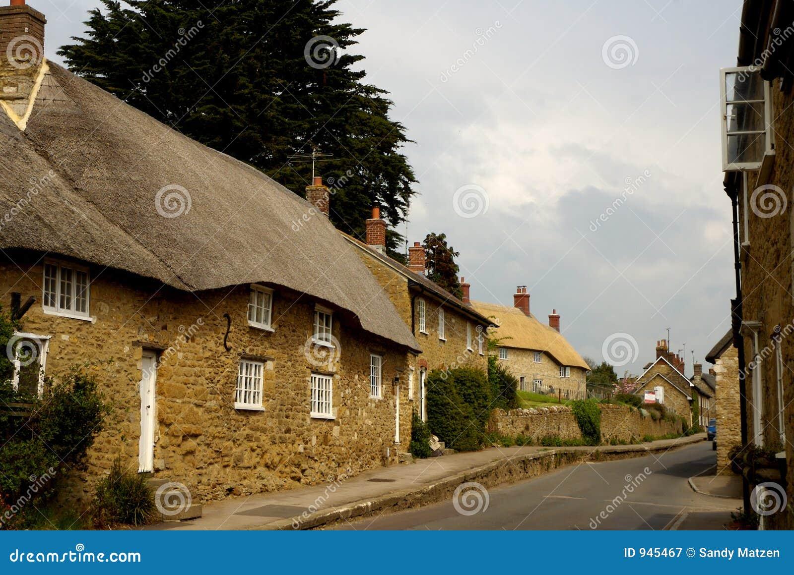 Casas de campo thatached telhado