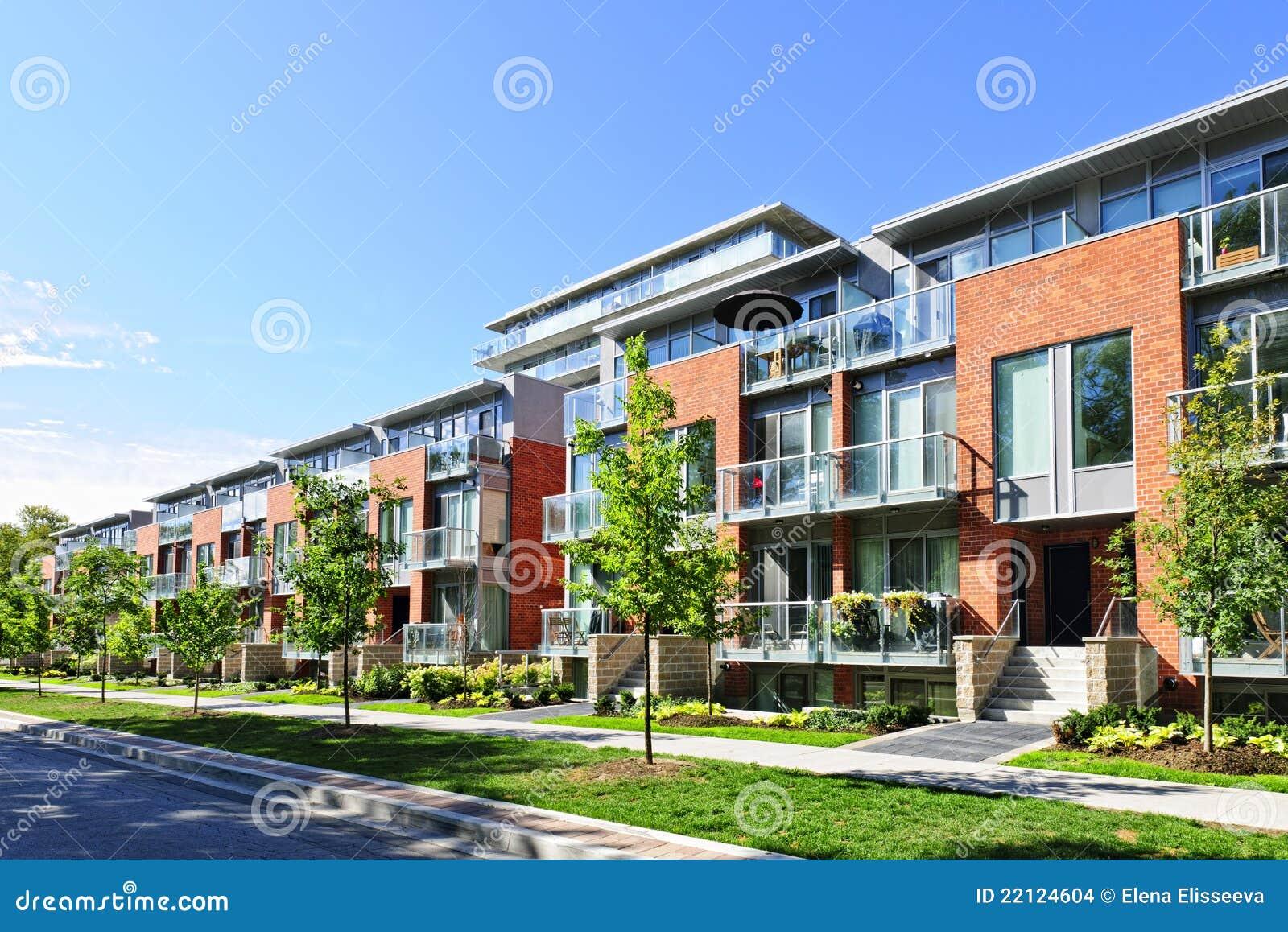 Casas de cidade modernas