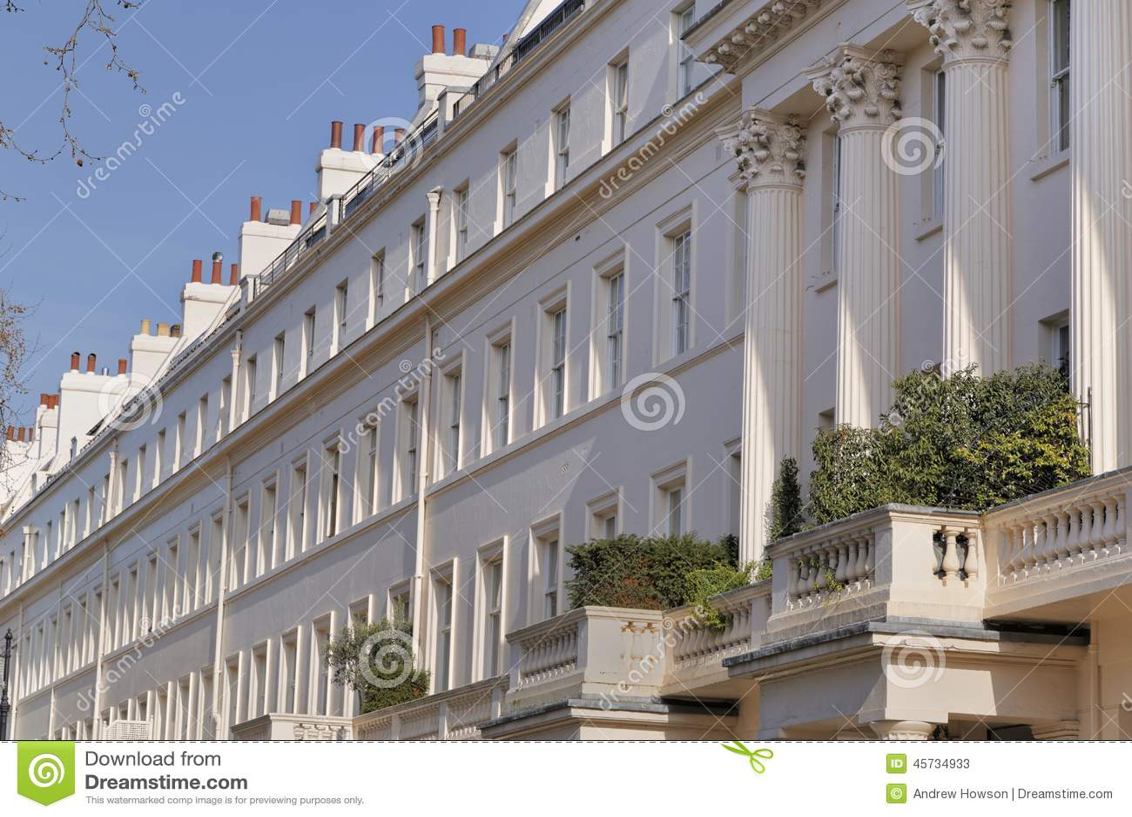 Casas de cidade terraced Georgian