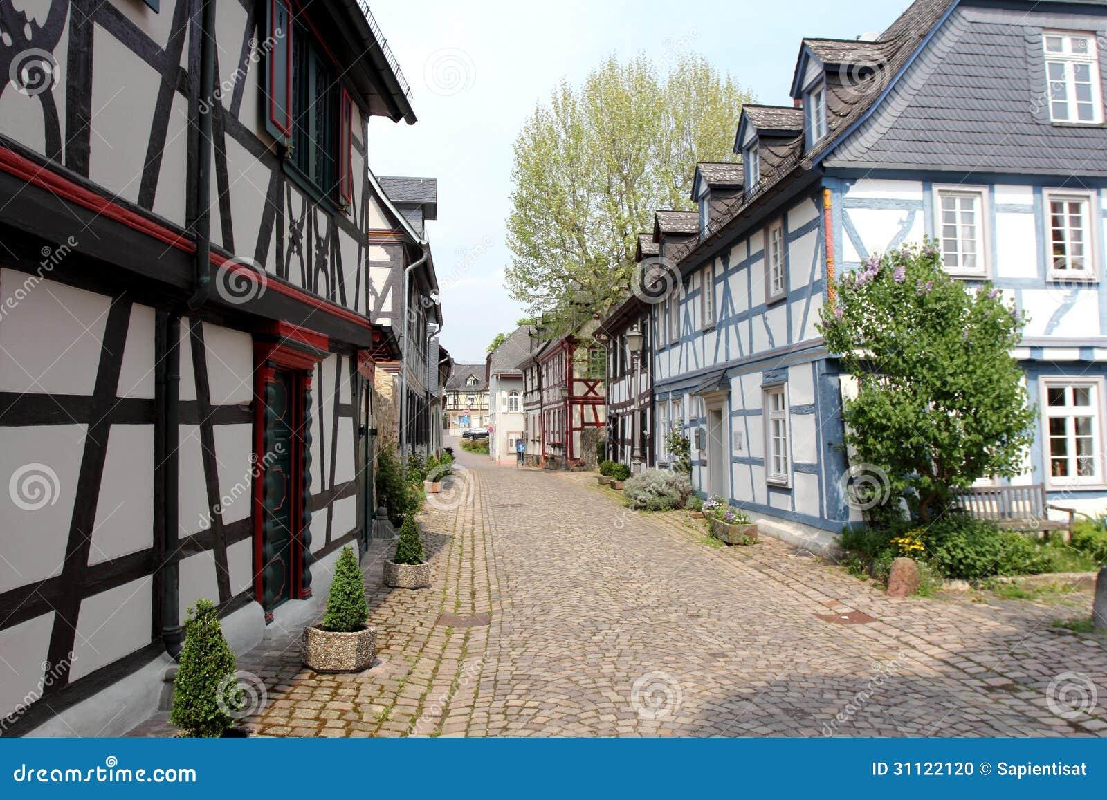 Casas De Entramado De Madera En Alemania Foto de archivo ... - photo#50