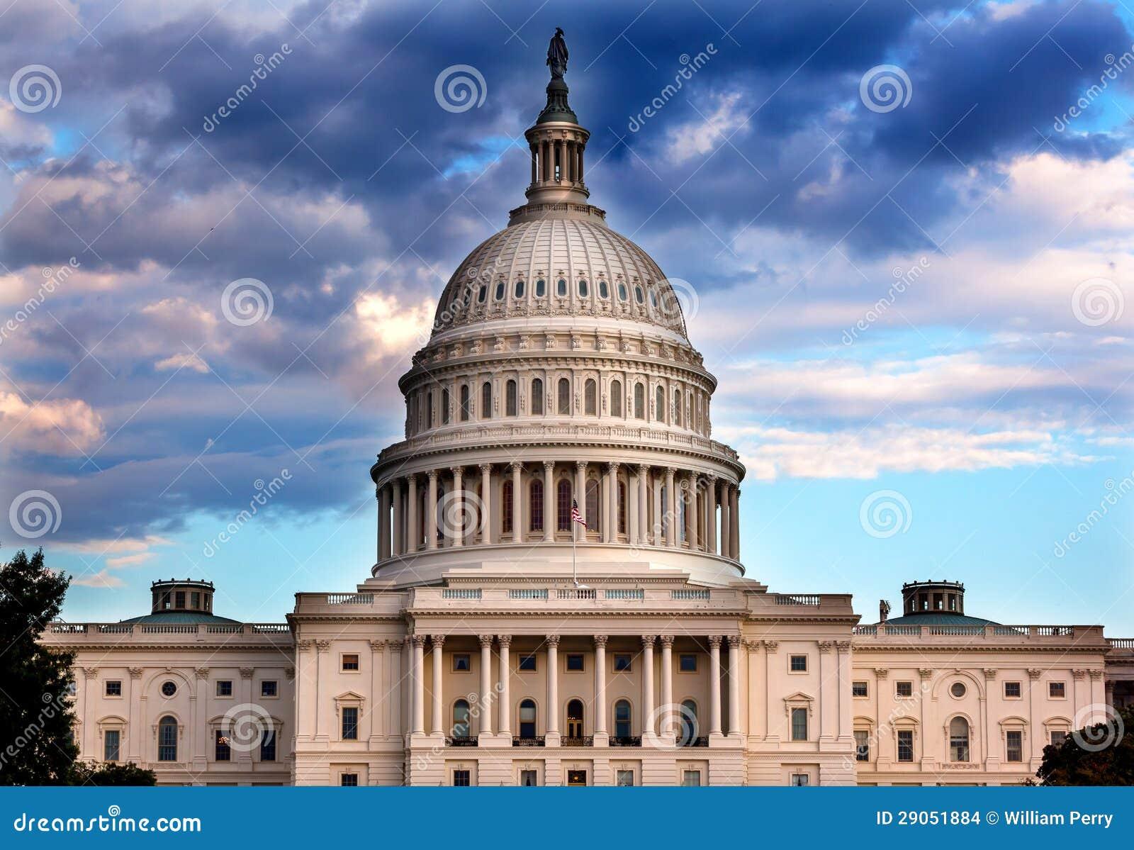 Casas de la bóveda del capitolio de los E.E.U.U. del Washington DC del congreso