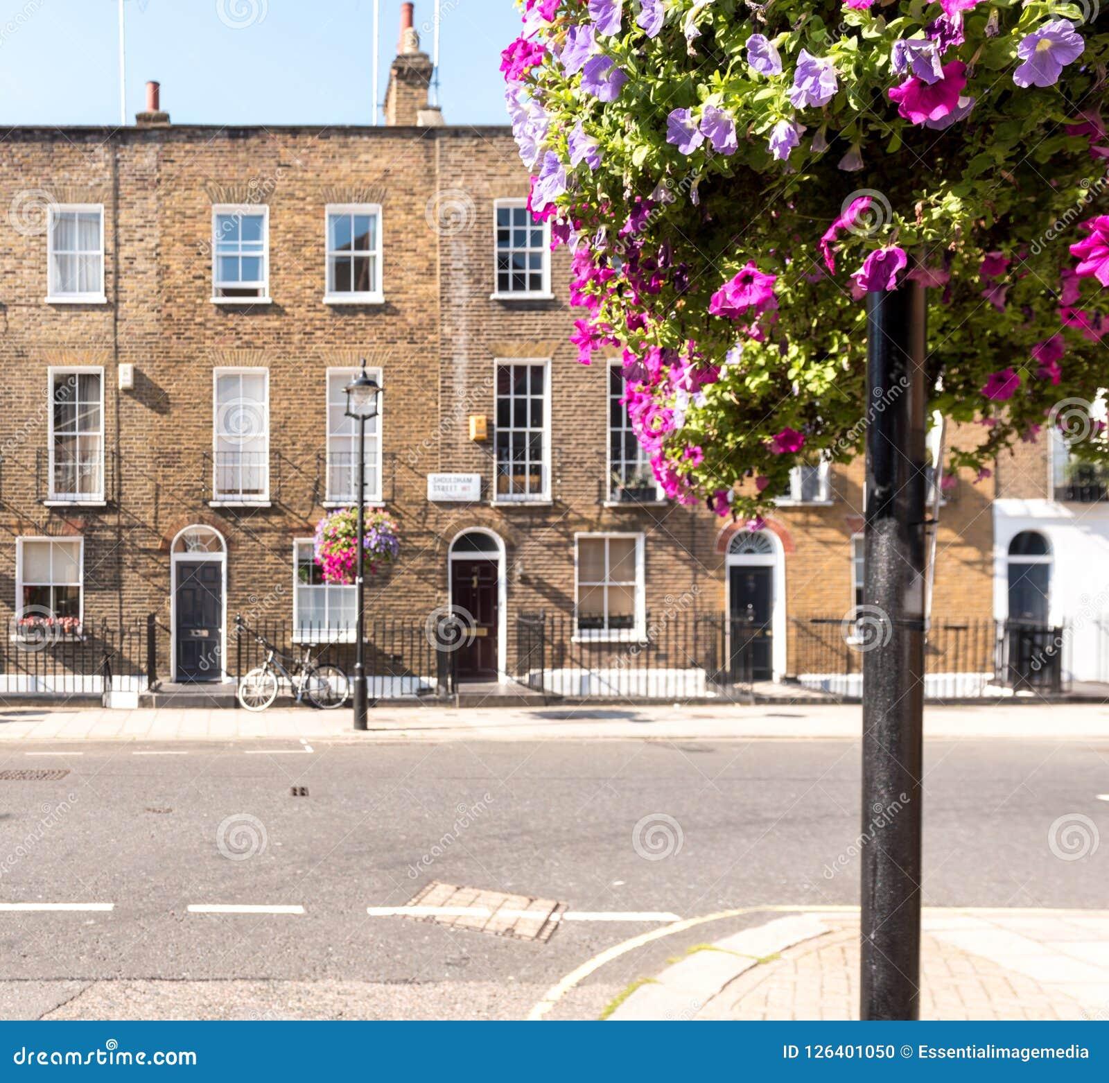 Casas De La Terraza De Londres Imagen Editorial Imagen De