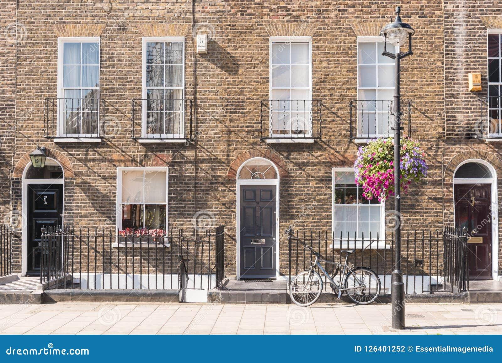 Casas De La Terraza De Londres Fotografía Editorial Imagen