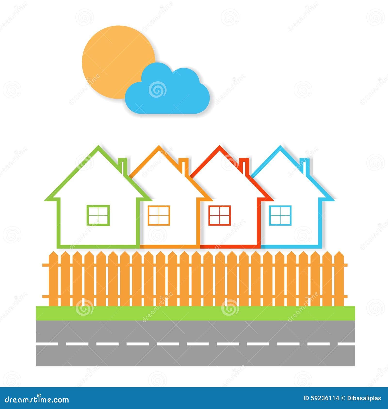 Casas de las propiedades inmobiliarias?, planos para la venta o para el alquiler Venta de la propiedad