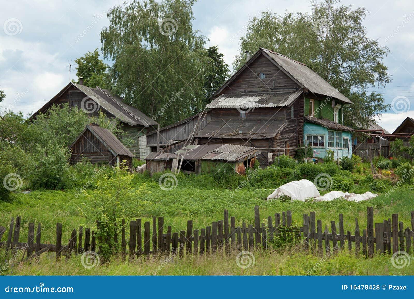 Casas De Madera Rústicas Dilapidadas Viejas Foto de ... - photo#9