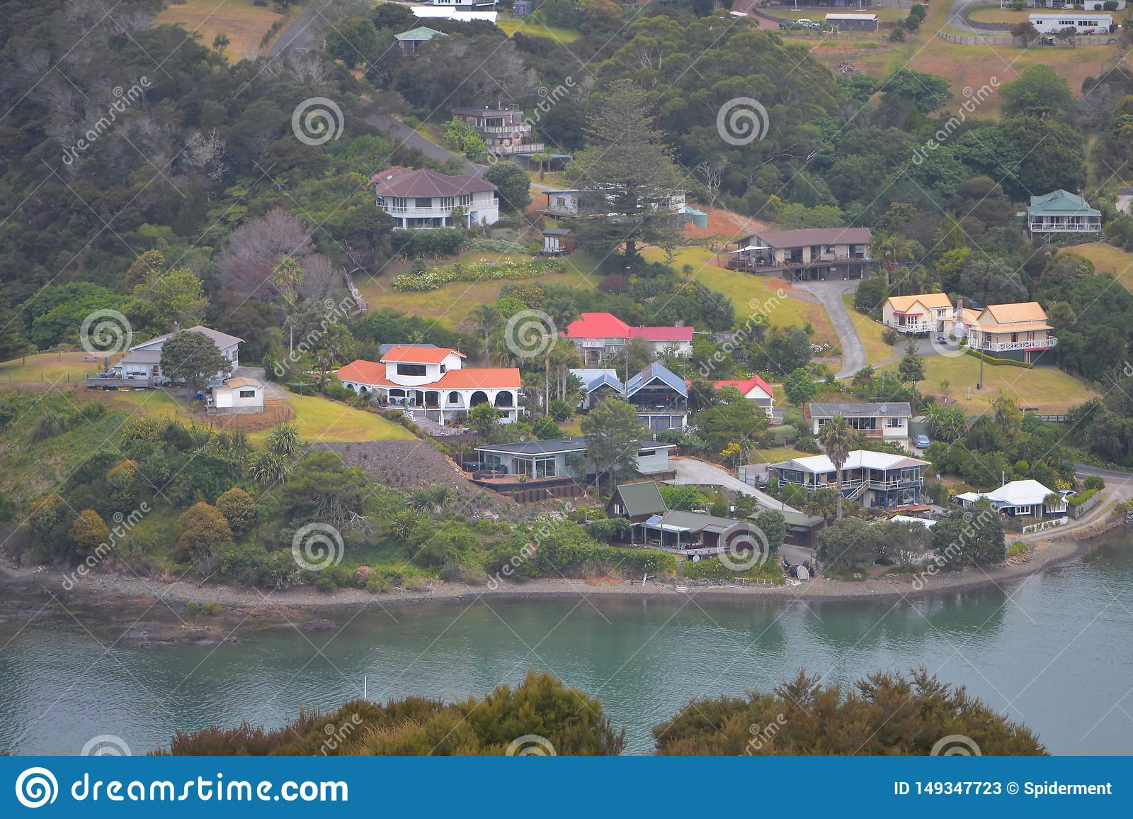 Casas de Mangonui ao longo da ?gua