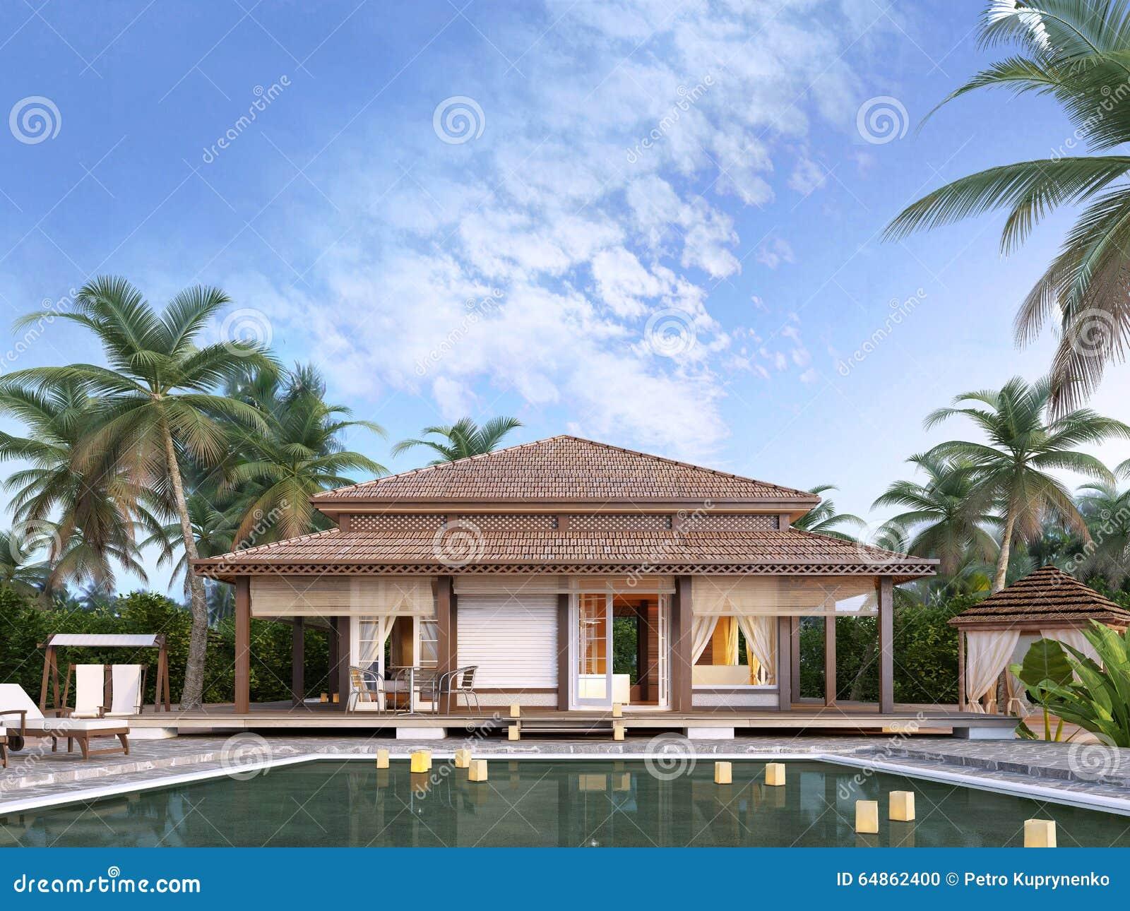 Casas de planta baja de lujo grandes en las islas foto de archivo imagen 64862400 - Fotos de casas de planta baja ...