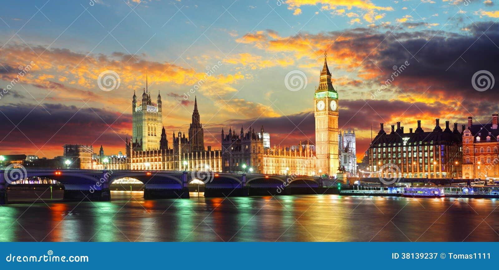 Casas del parlamento - ben grande, Londres, Reino Unido