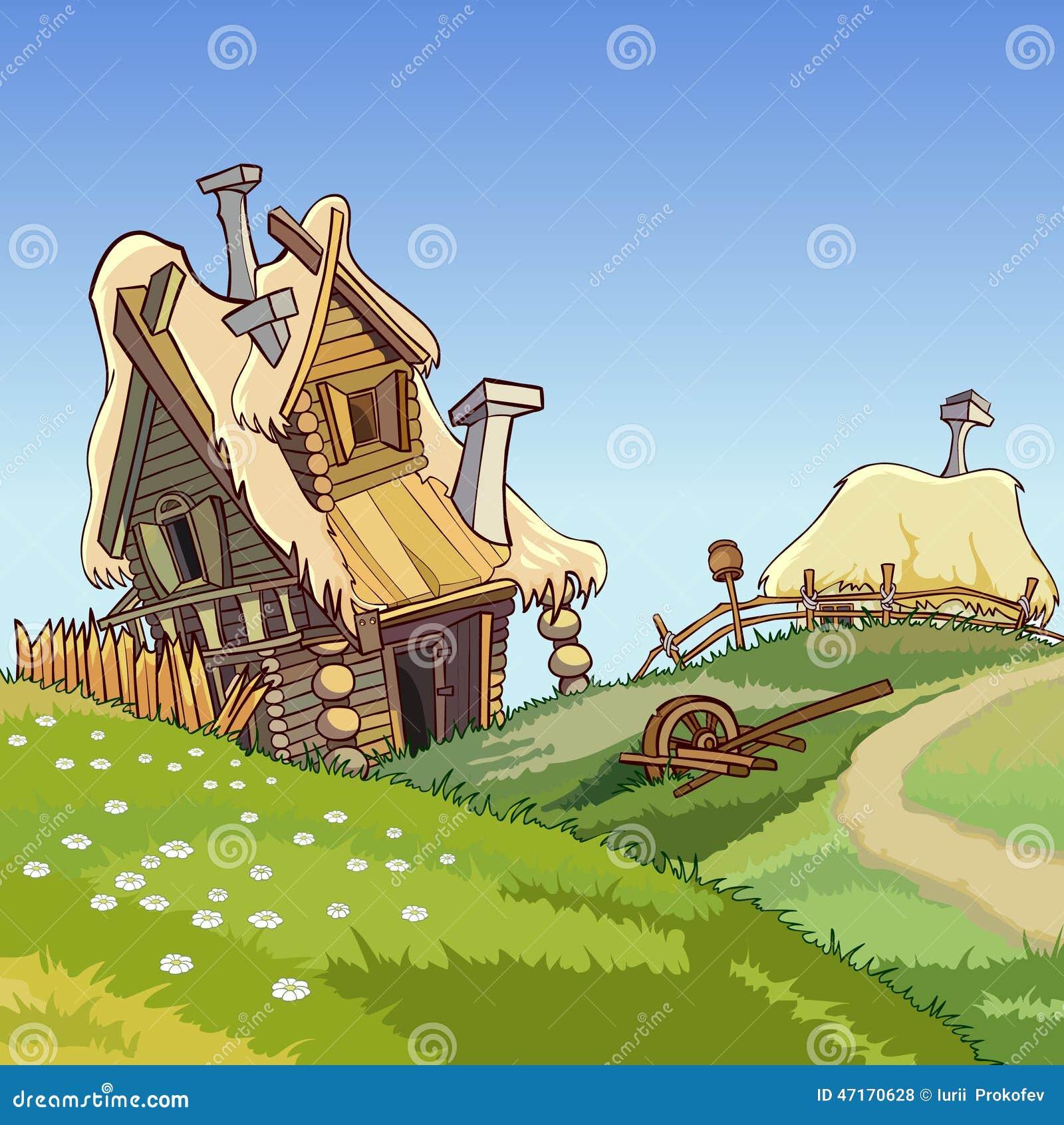 Casas del pueblo de la historieta