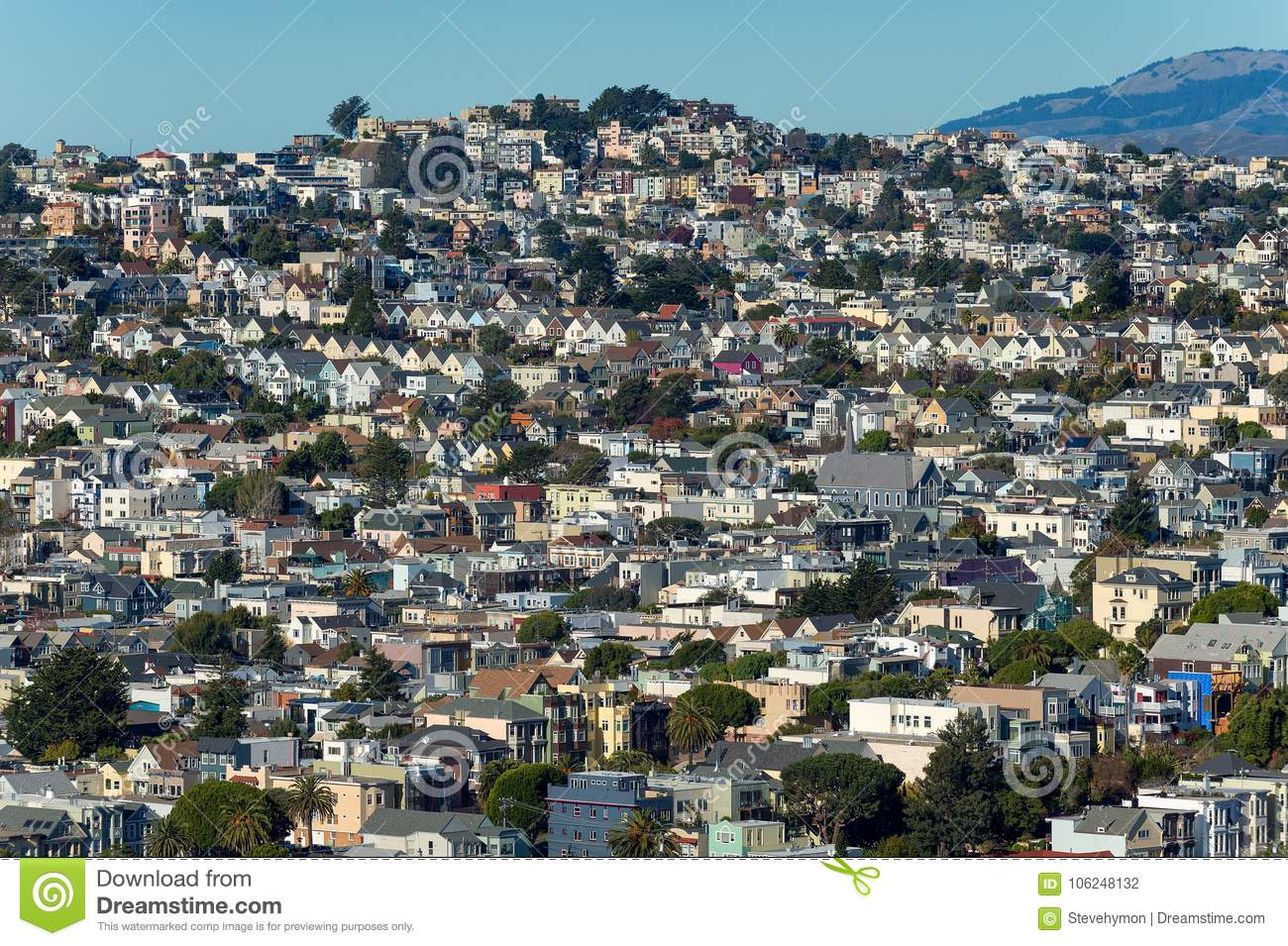 Casas do montanhês de San Francisco -- Dolores Heights, Cole Valley & Corona Heights