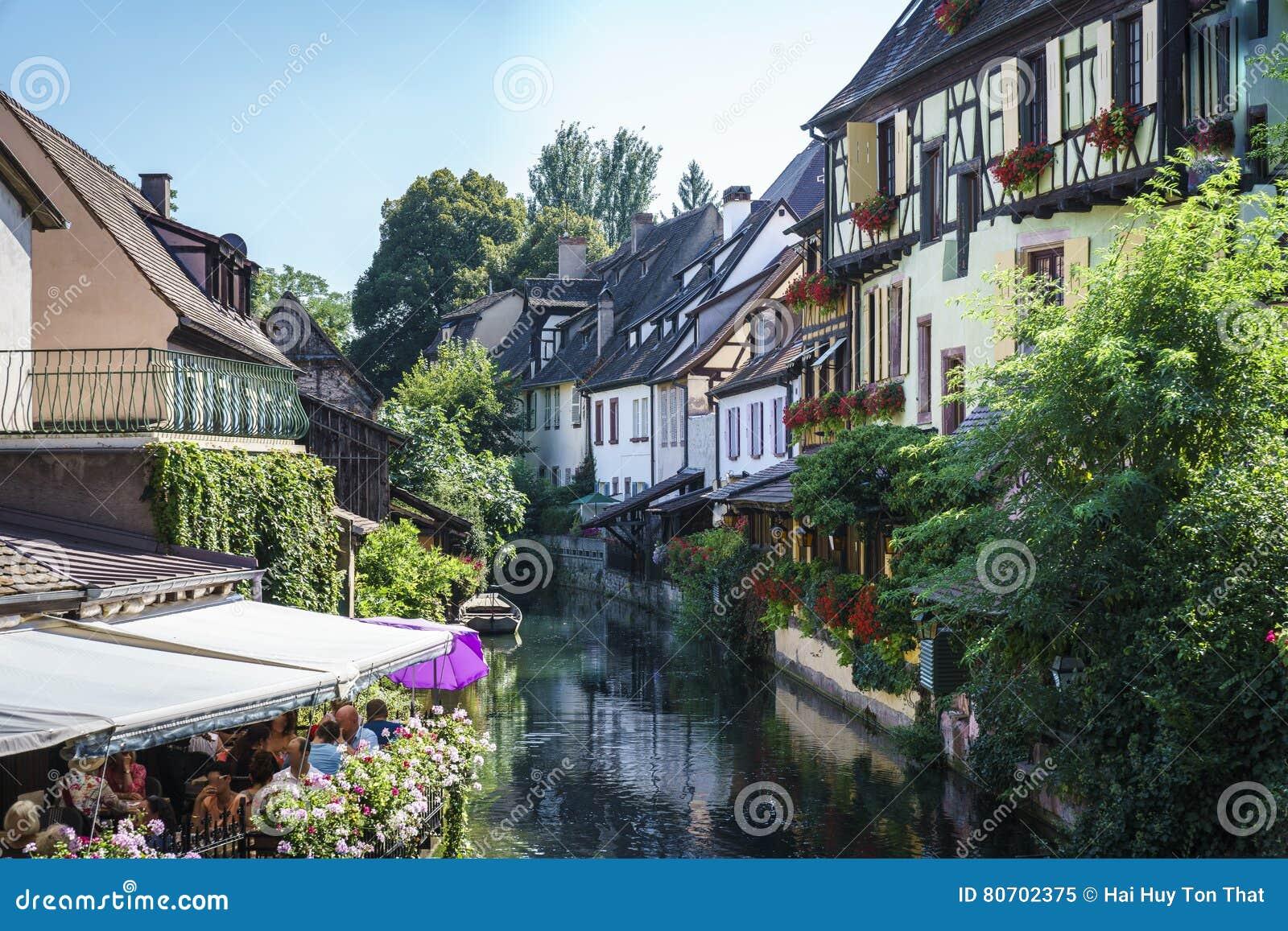 Casas francesas tradicionais em Colmar