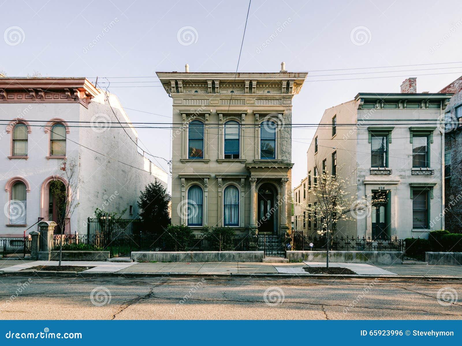 Casas históricas, Dayton Street em Cincinnati