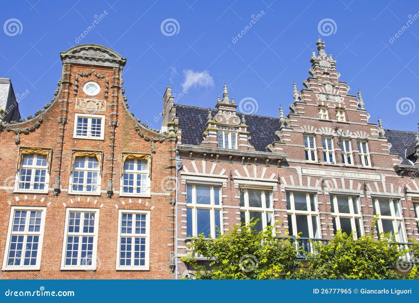 Casas holandesas típicas en Haarlem
