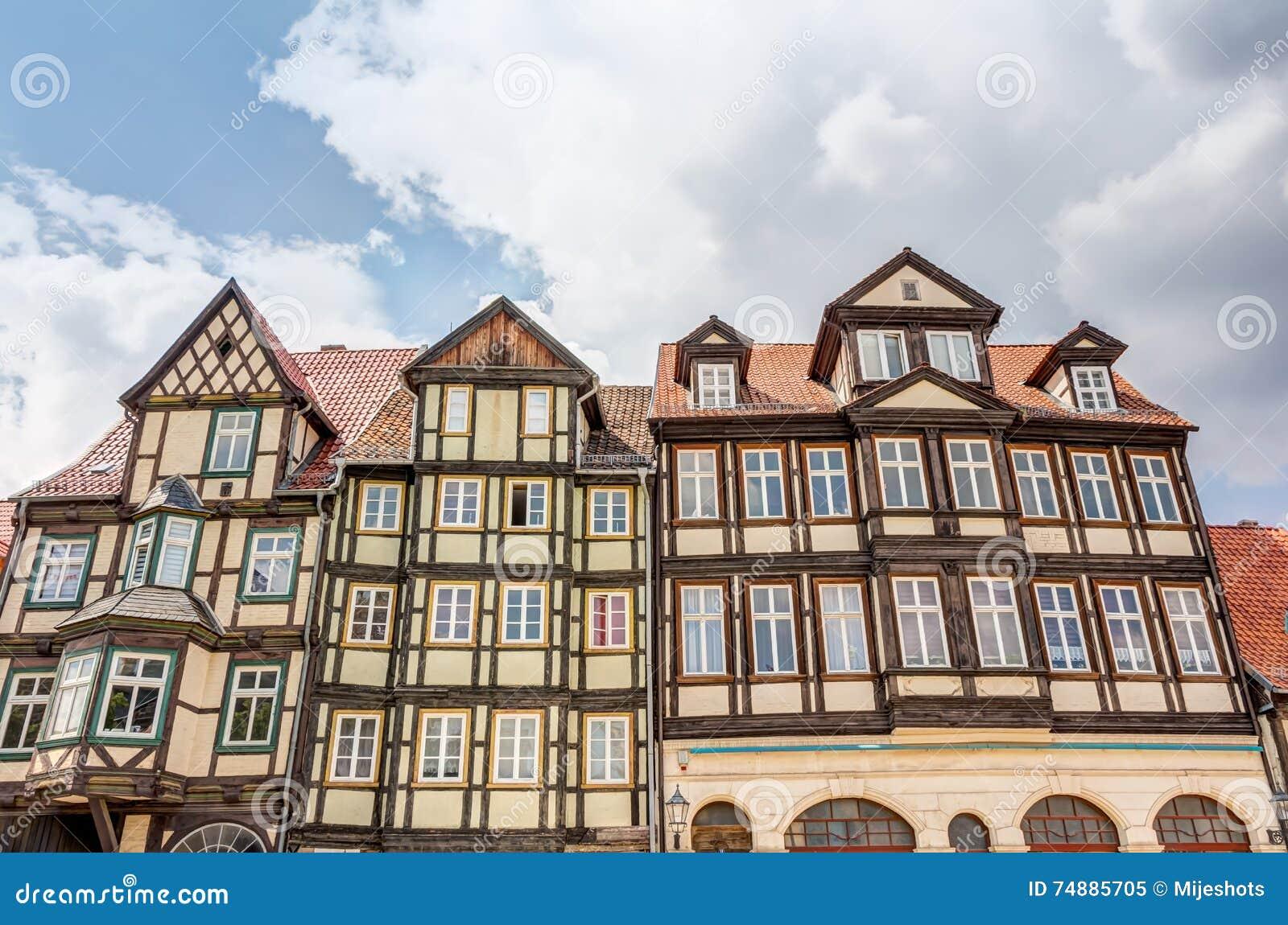 Casas Metade-suportadas em Quedlinburg, Alemanha