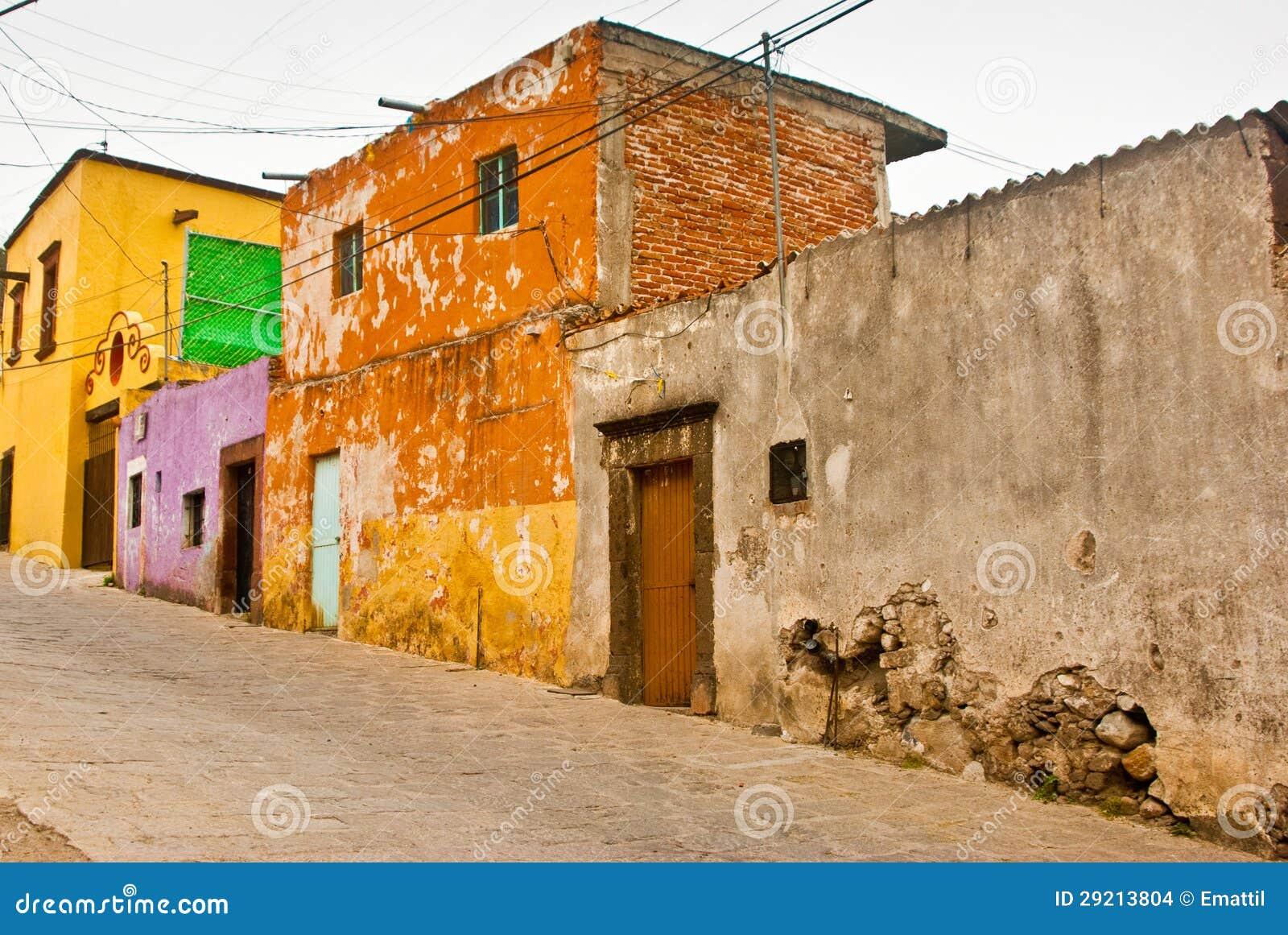 Casas mexicanas del grunge foto de archivo imagen de - Imagen de casas ...