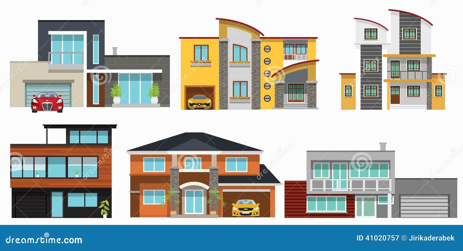 casas modernas de la ciudad ilustraci n del vector