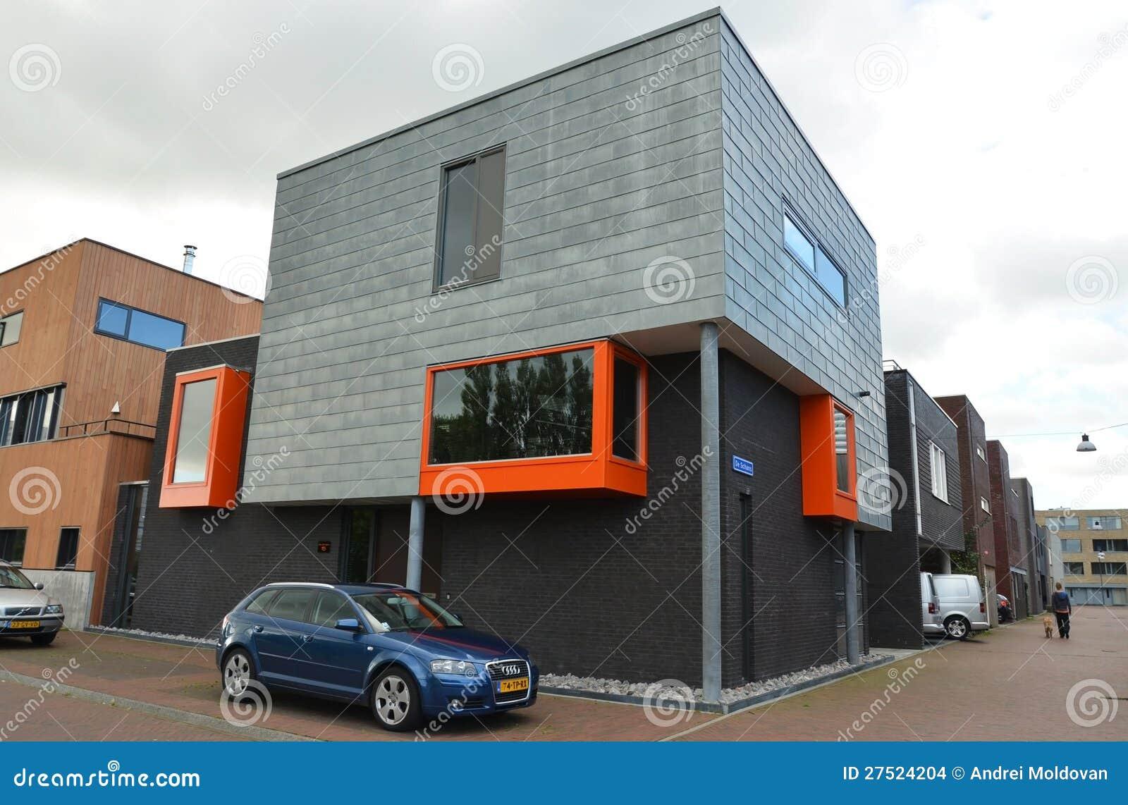 Casas modernas em groningen holland imagem de stock for Casa moderna in moldova