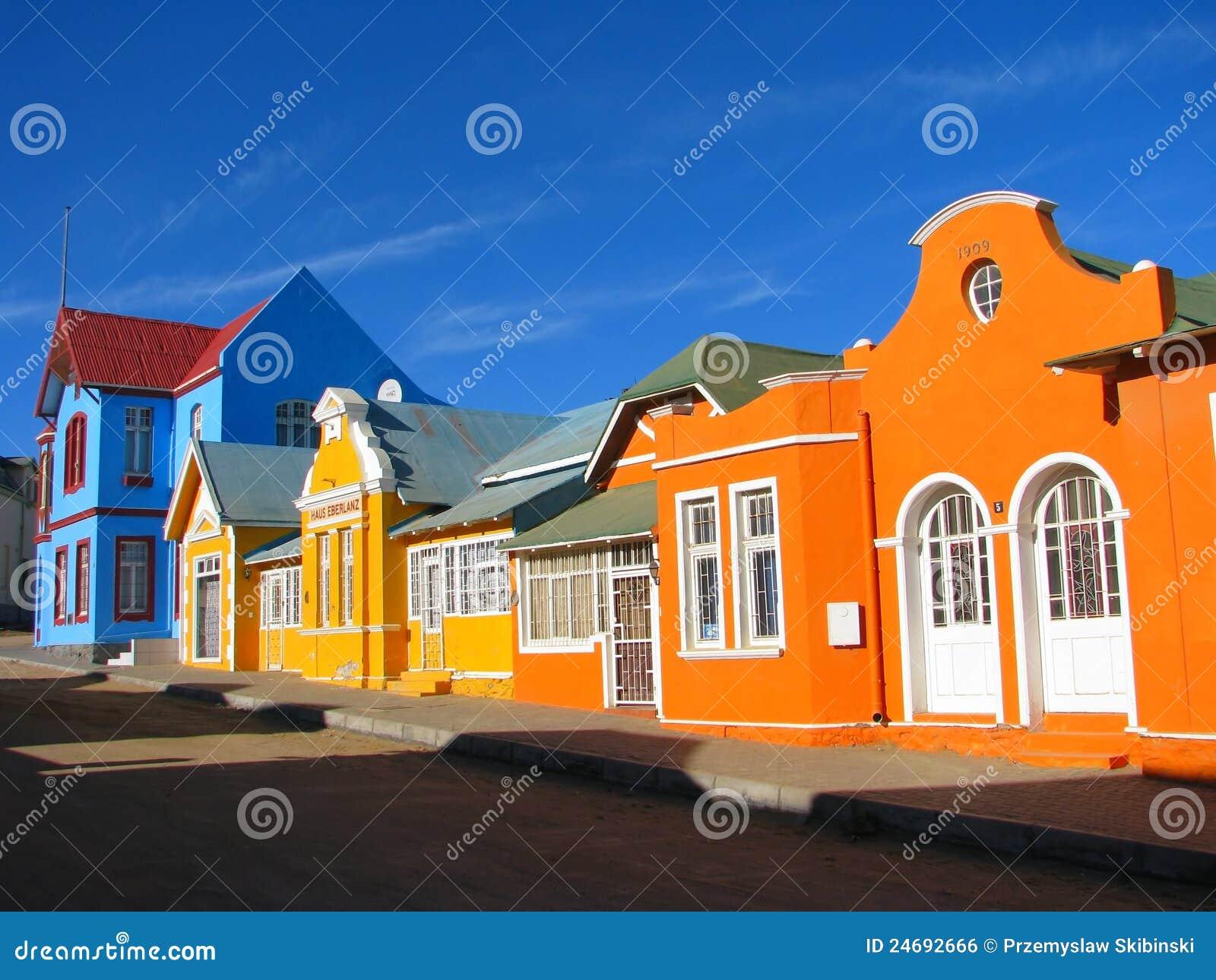 Casas Multicoloured em Luderitz