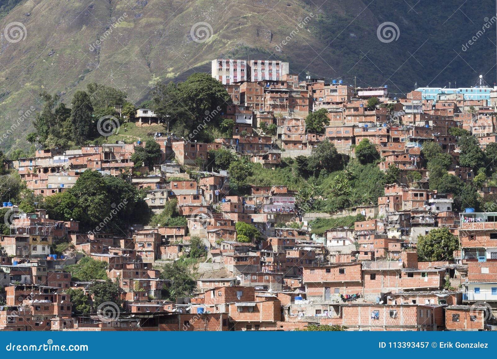 Casas pobres en Caracas, Venezuela