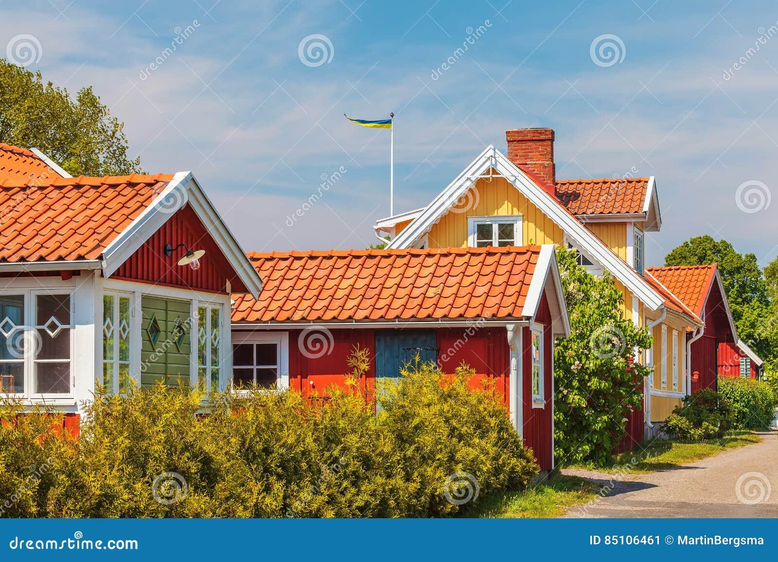 Casas Suecas Viejas En Kristianopel Foto de archivo ... - photo#22