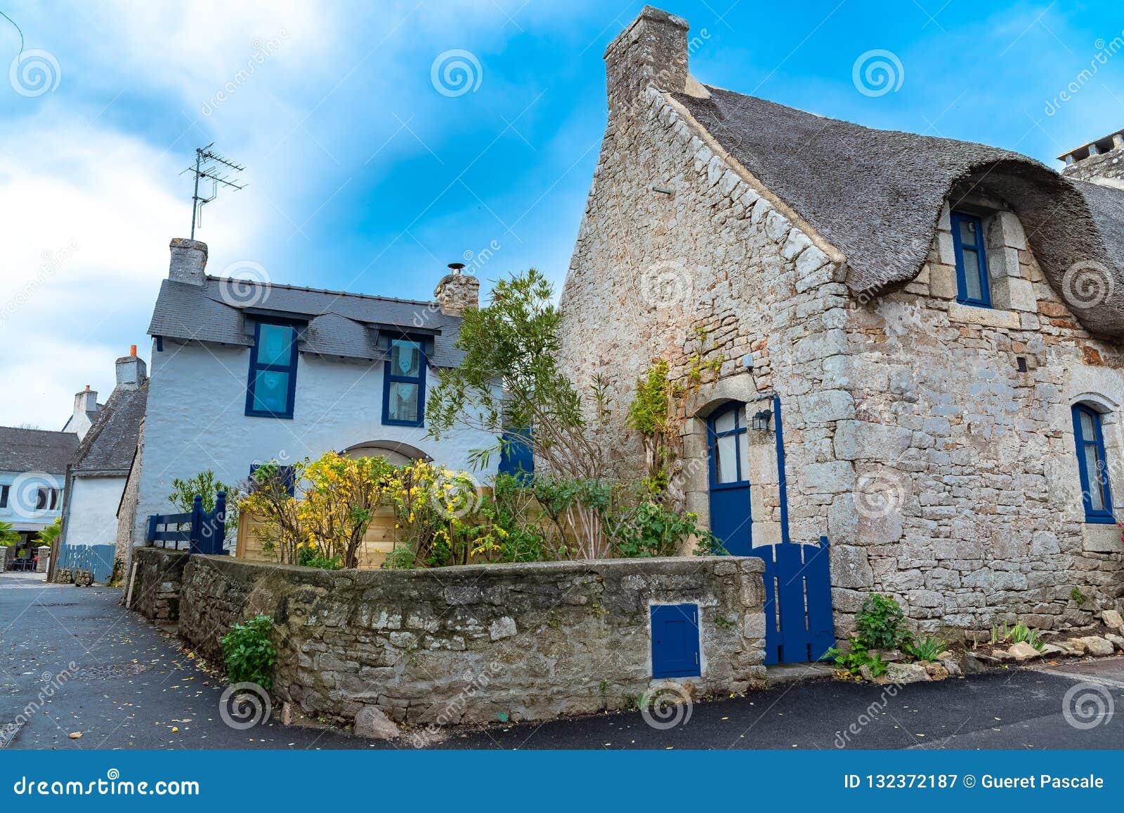 Casas típicas en Bretaña