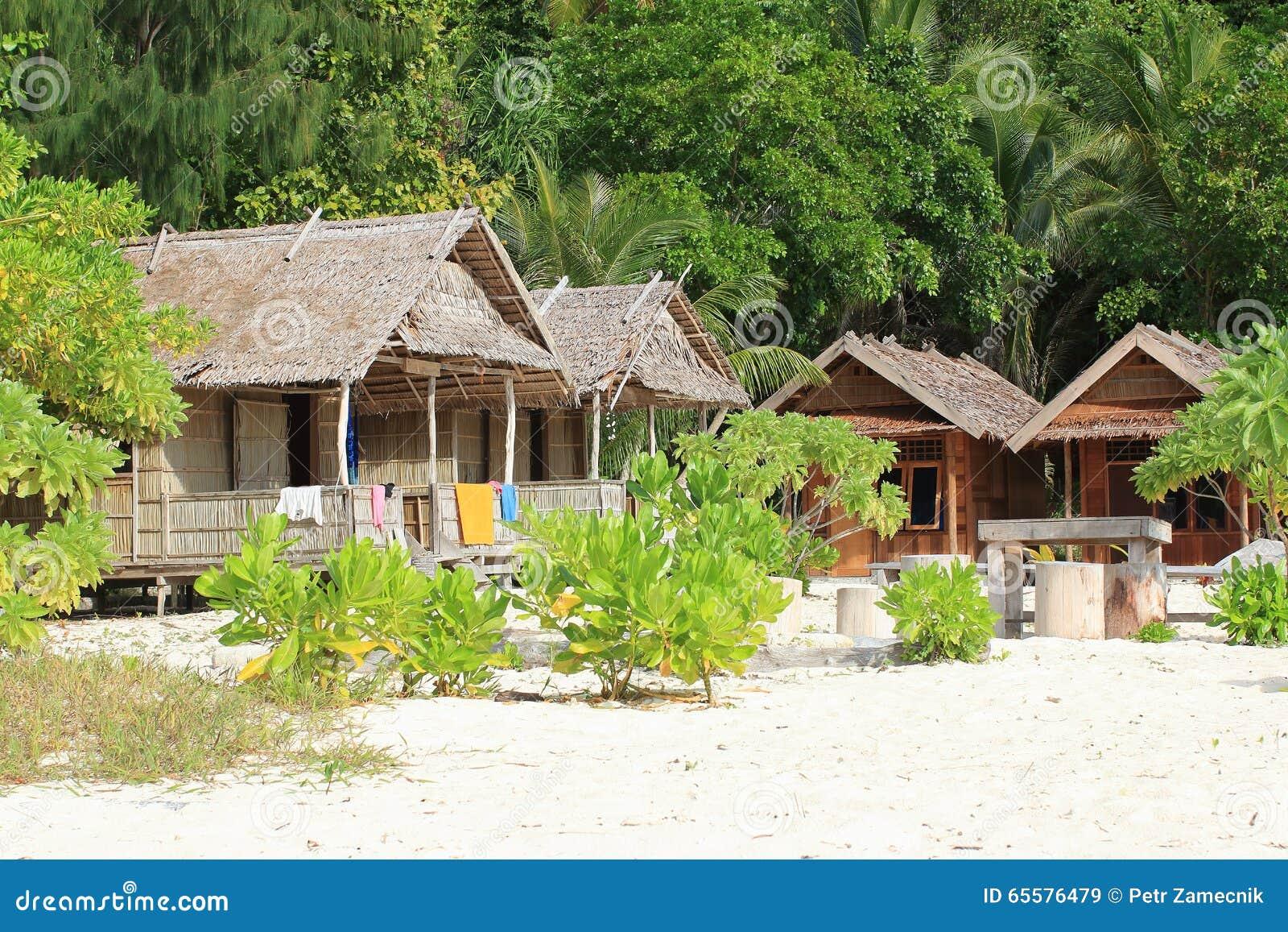 Casas tradicionais no recurso