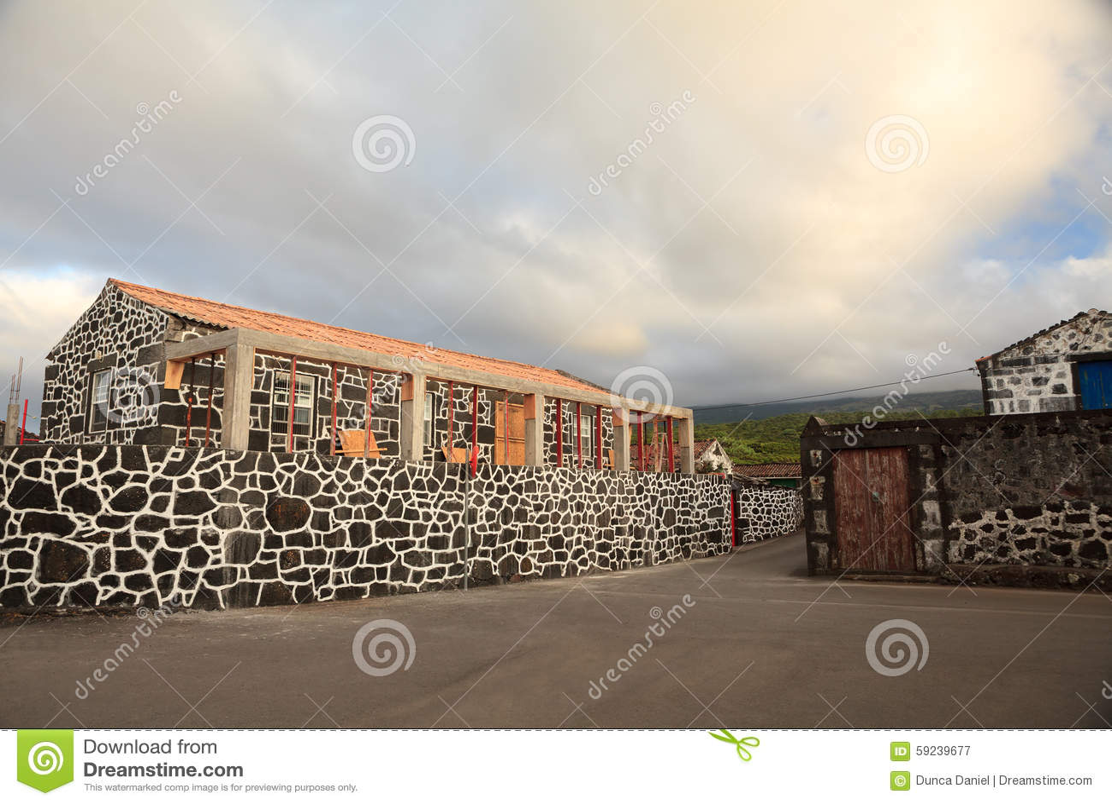 Download Casas Tradicionales De Pico Island En Azores Imagen de archivo - Imagen de edificios, recorrido: 59239677