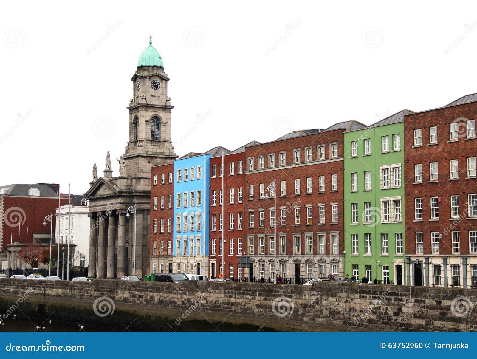 Casas tradicionales en Dublín, Irlanda