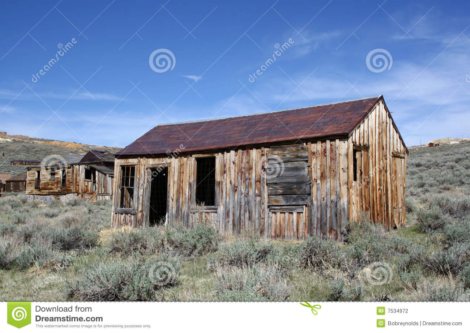 Casas viejas en el pueblo fantasma de bodie foto de - Casas de pueblo ...