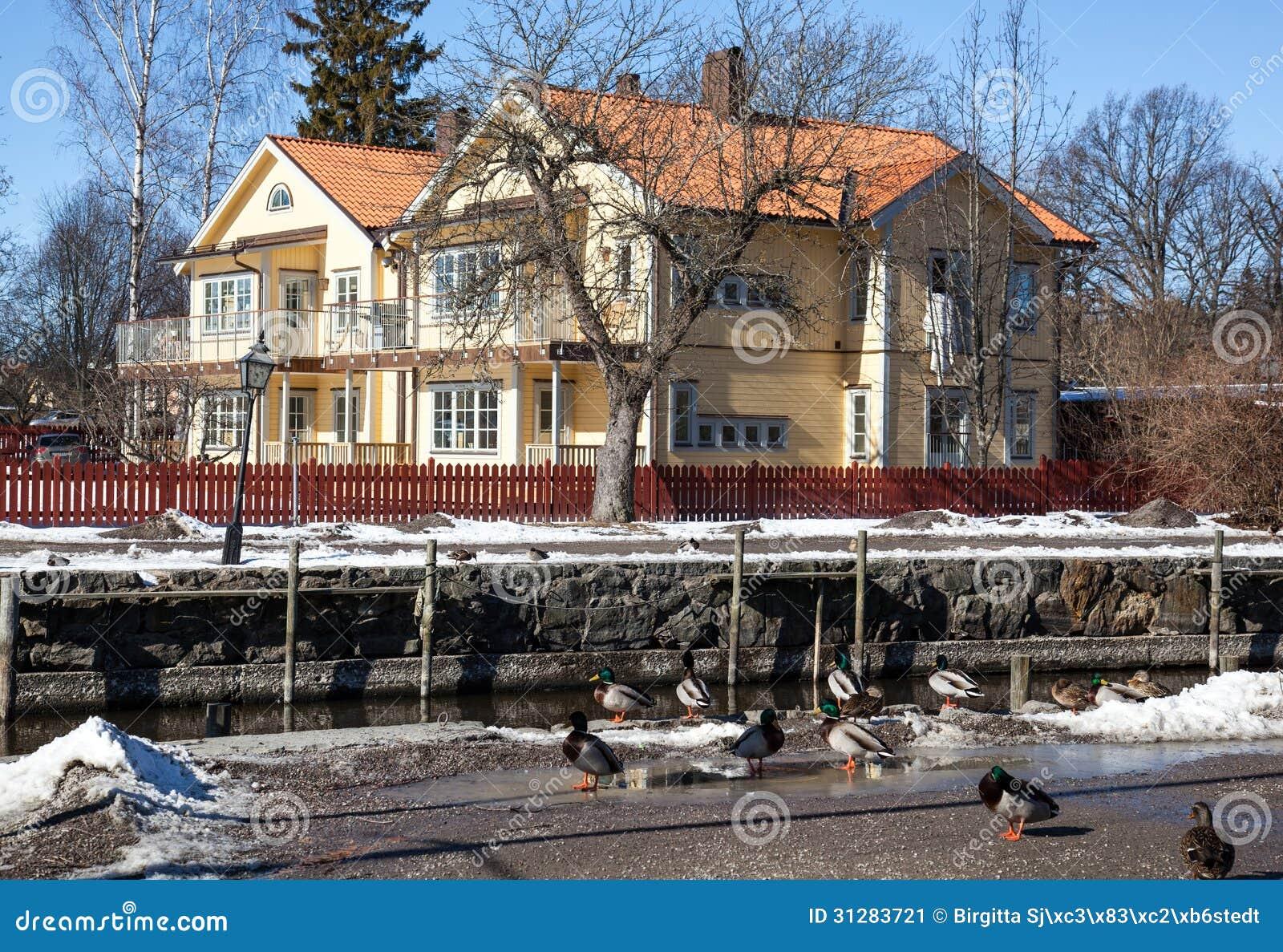 Casas y ambiente en Suecia.