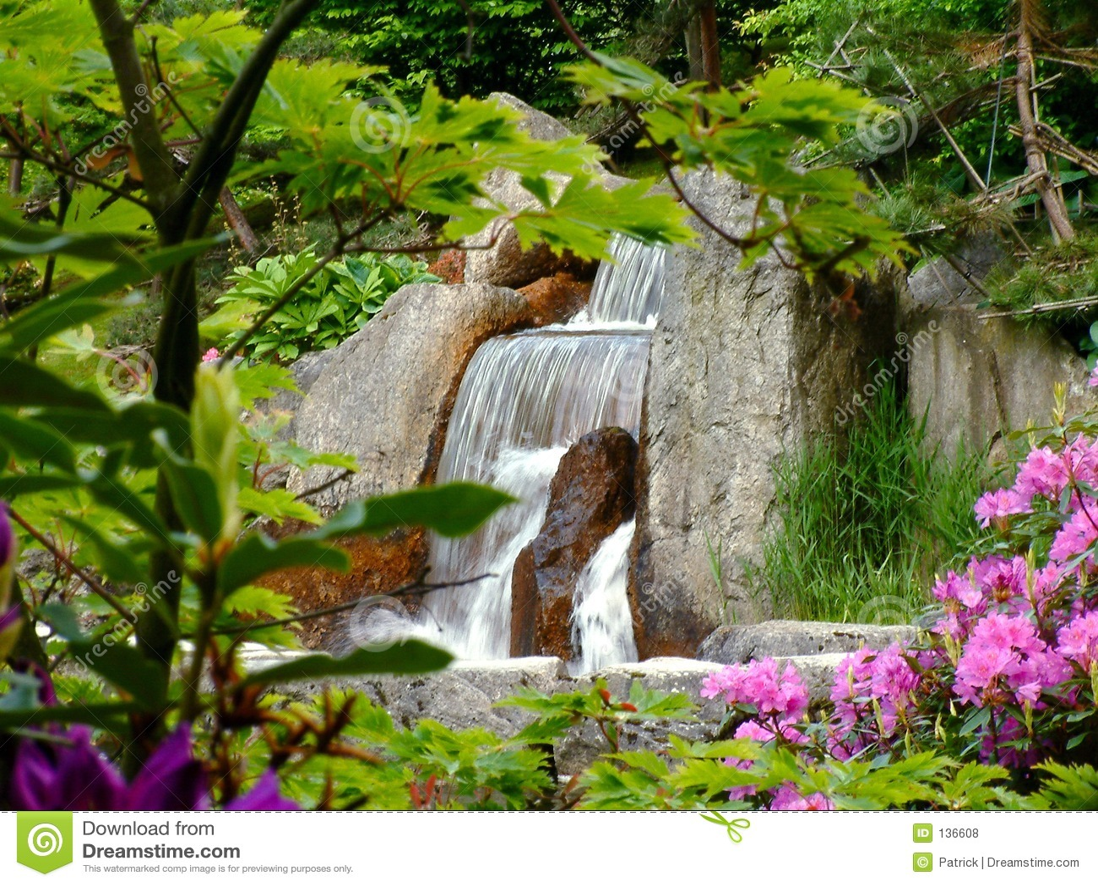 Cascada foto de archivo imagen de plantas verano for Cascadas para jardines casas