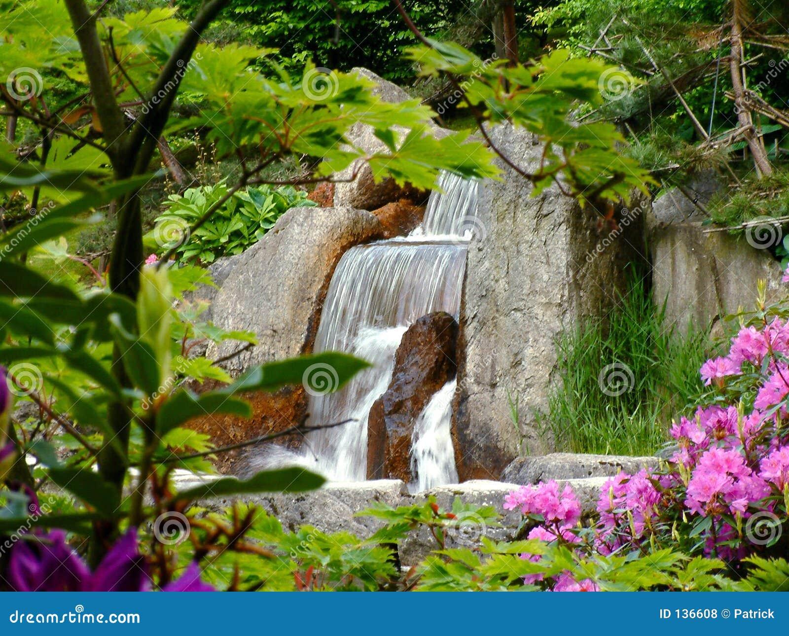 Cascada foto de archivo imagen de plantas verano for Cascada casera para jardin