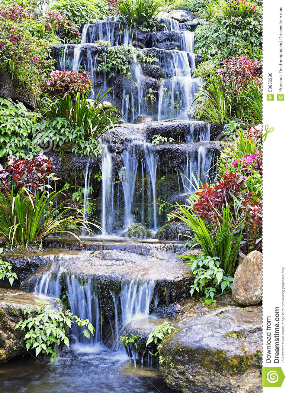 cascada artificial outdoor color - Cascadas Artificiales