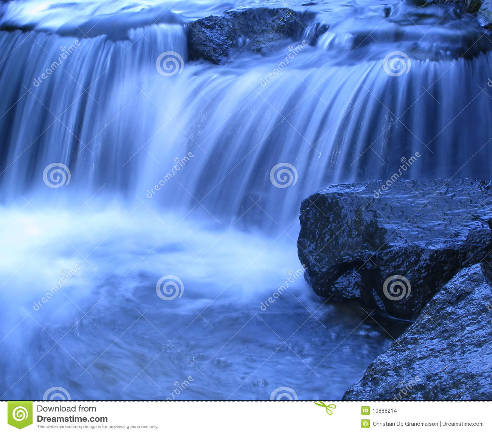Cascada azul